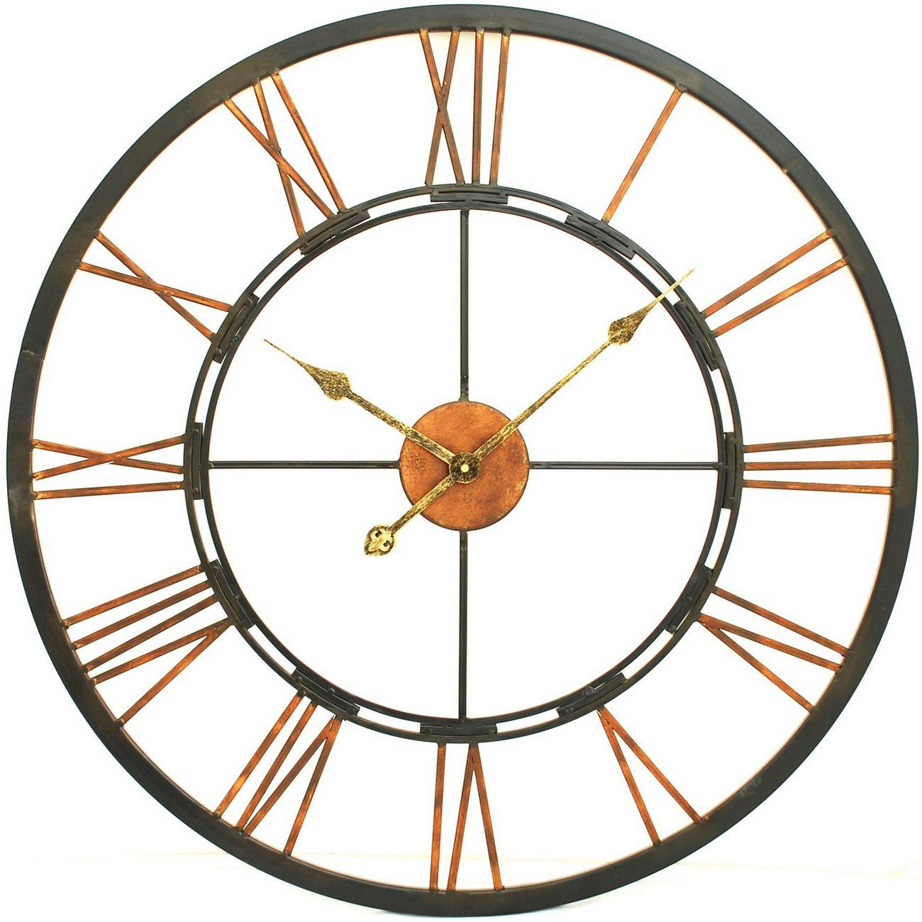 Large Metal Skeletal Wall Clock thumbnail