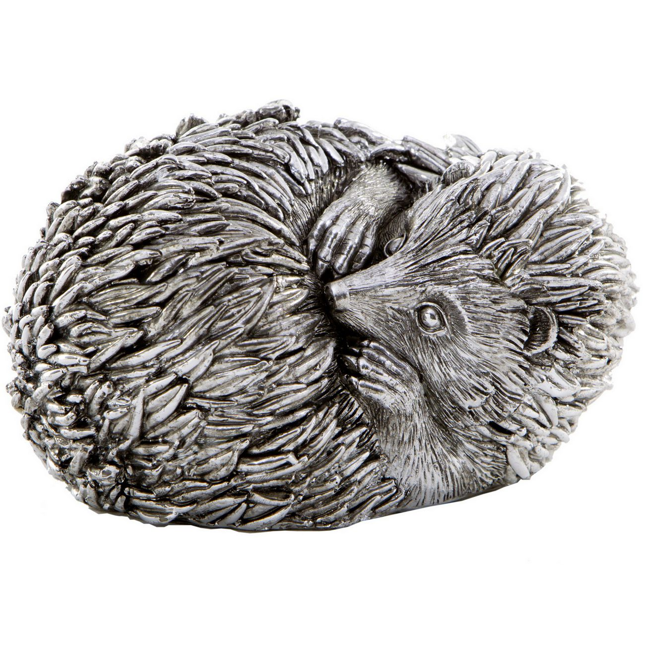 Silver Curled Hedgehog Sculpture thumbnail