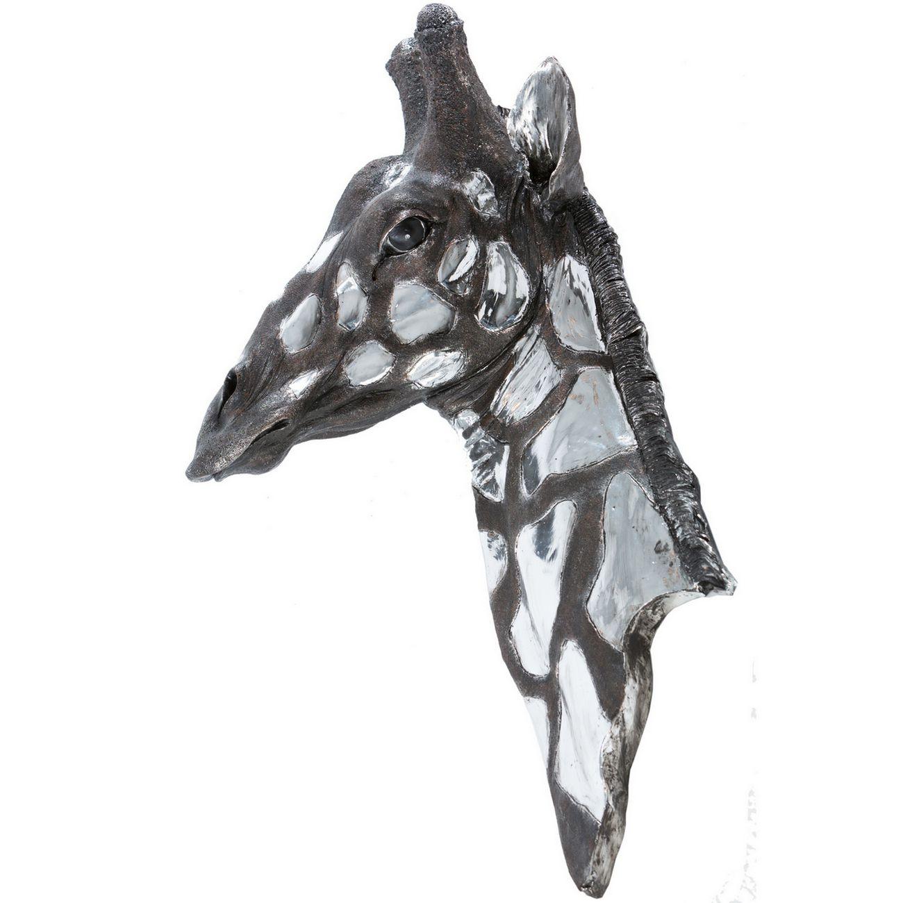 Dappled Silver Giraffe Head Wall Plaque thumbnail
