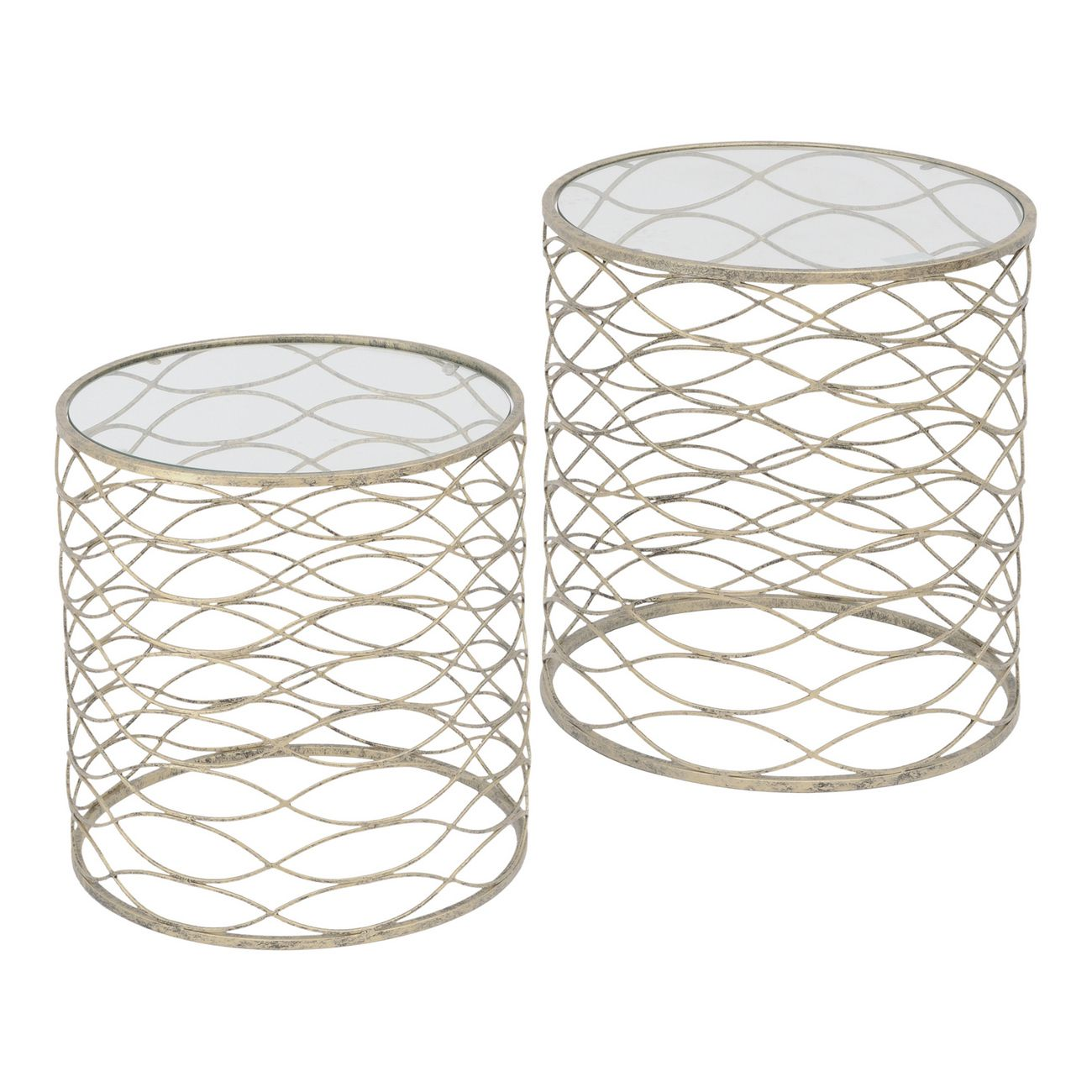 Gatsby Set Of 2 Gold Nesting Side Tables thumbnail