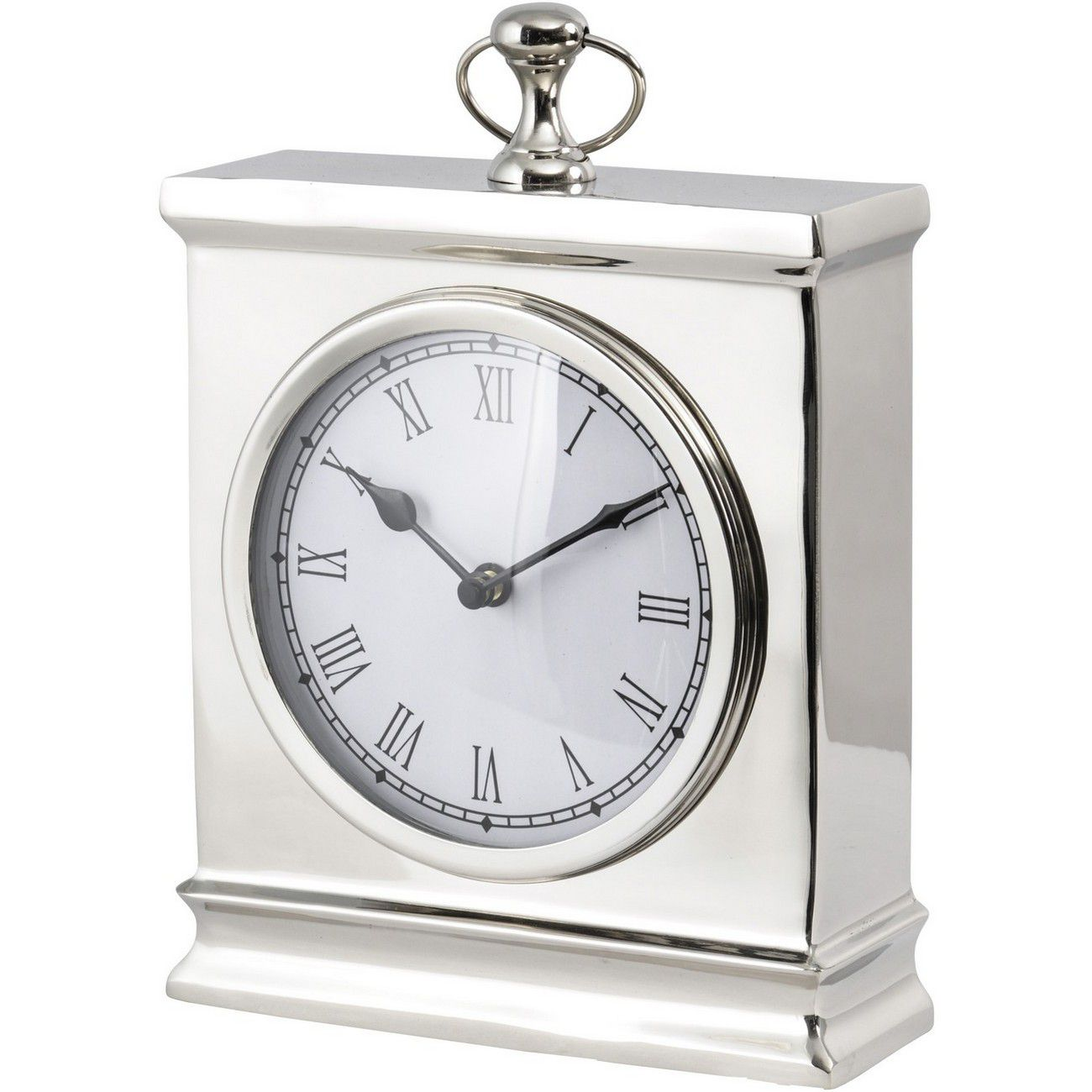 Amesbury Large Nickel Mantel Clock thumbnail