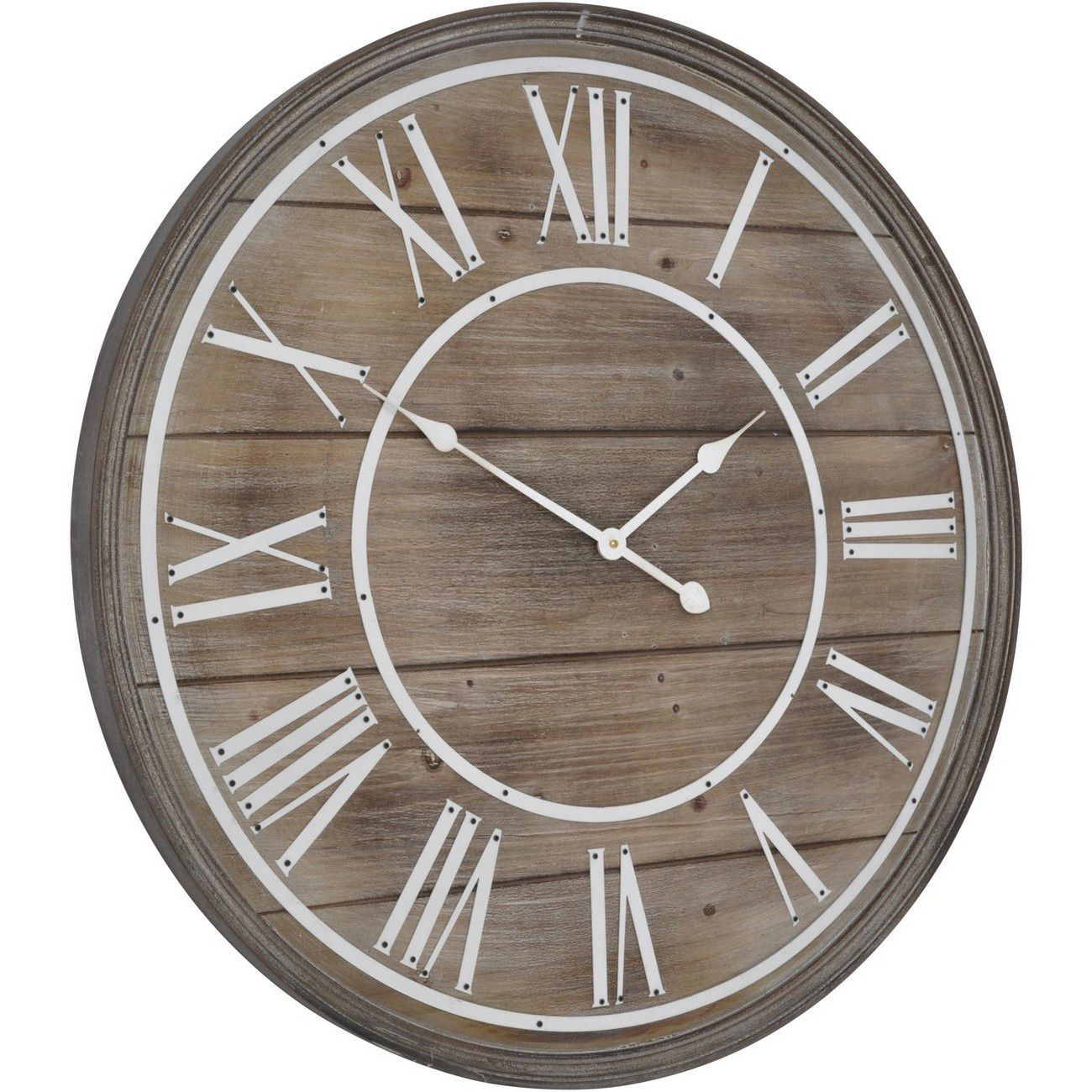 Hemsby Bleach Wooden Wall Clock thumbnail