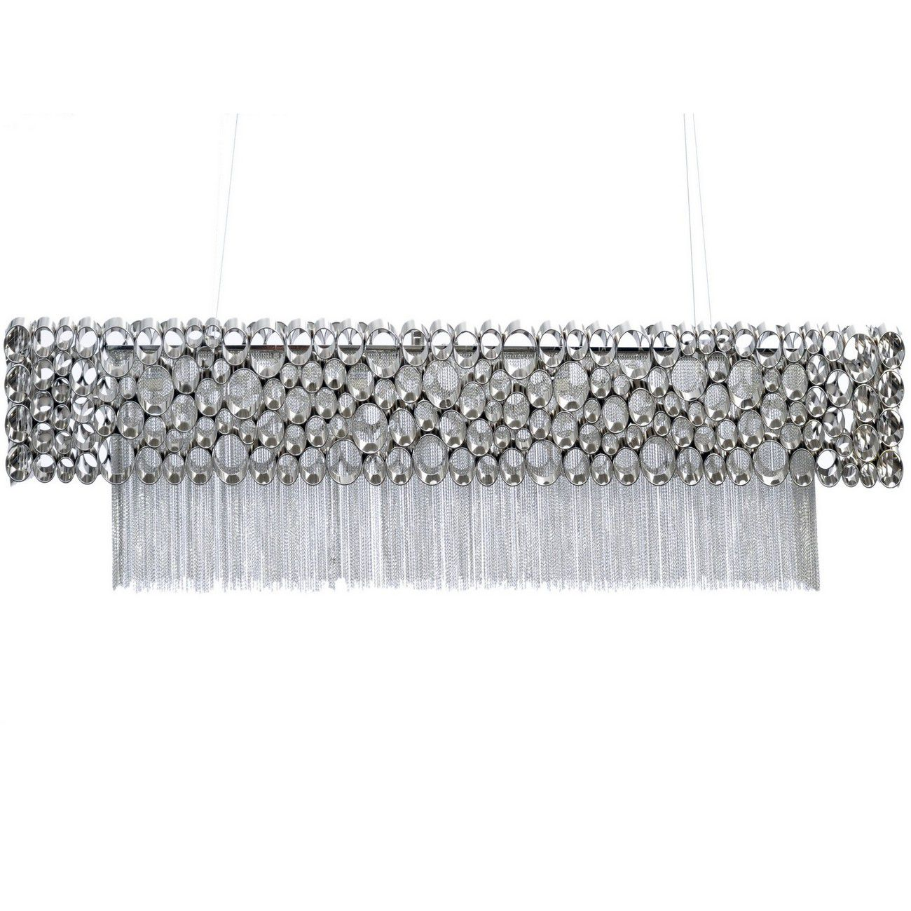 Venus Nickel Rectangular Chandelier G9 40W thumbnail