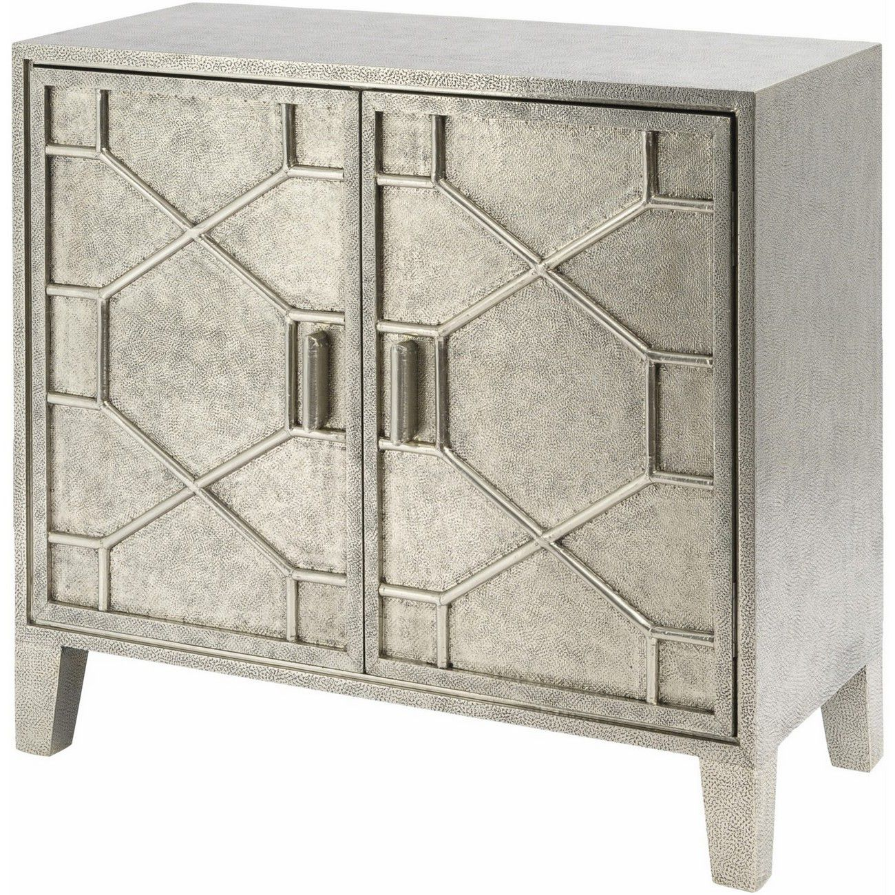 Astor Hand Embossed Metal 2 Door Cabinet thumbnail