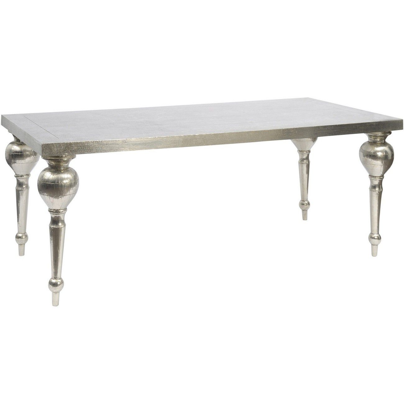 Astor Hand Embossed  Rectangular Metal Dining Table thumbnail