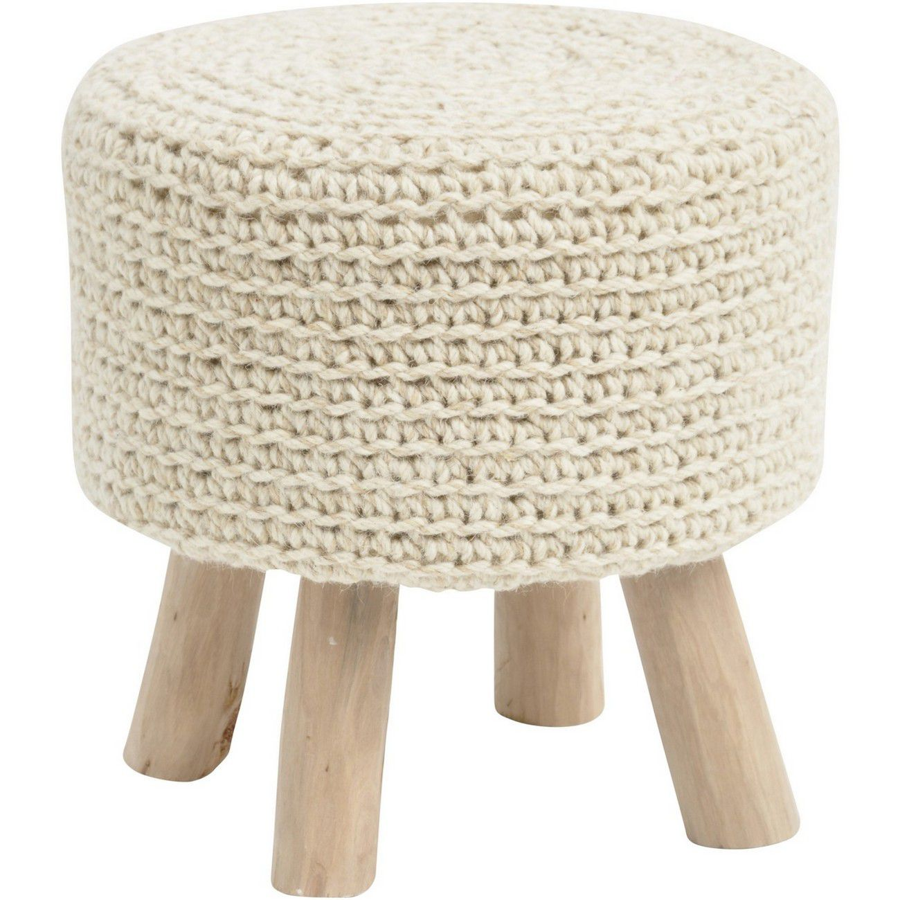Nomad Natural Knitted Stool thumbnail