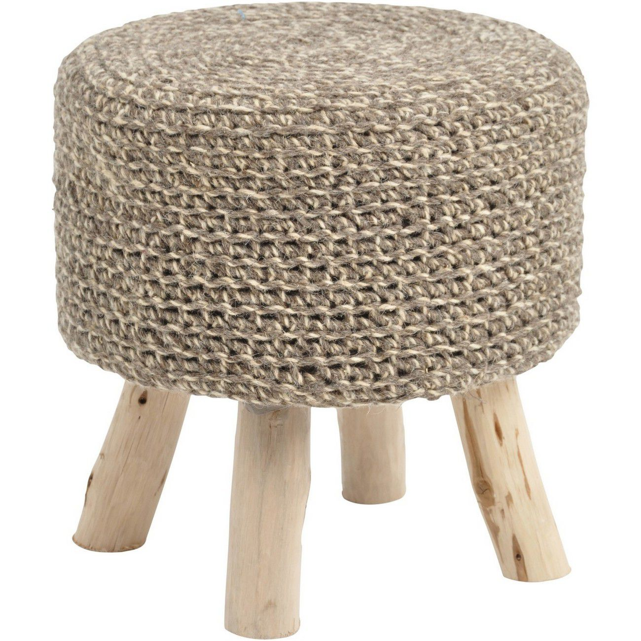 Nomad Taupe Knitted Stool thumbnail
