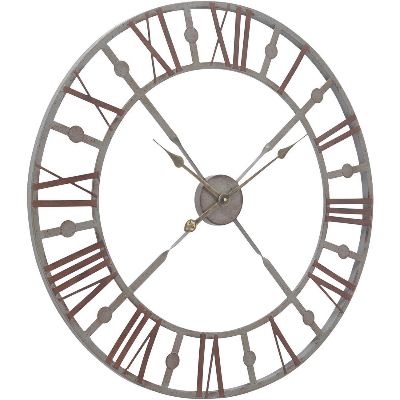 Antique Grey Skeleton Wall Clock thumbnail
