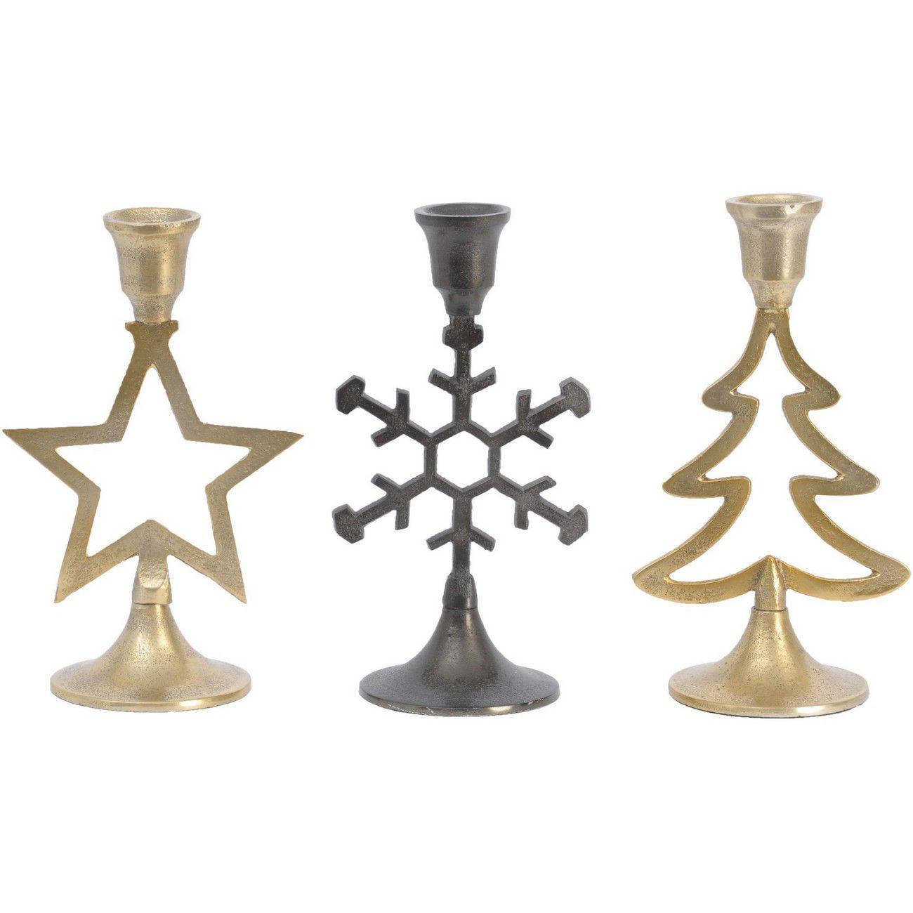 Set Of 3 Christmas Candleholders thumbnail
