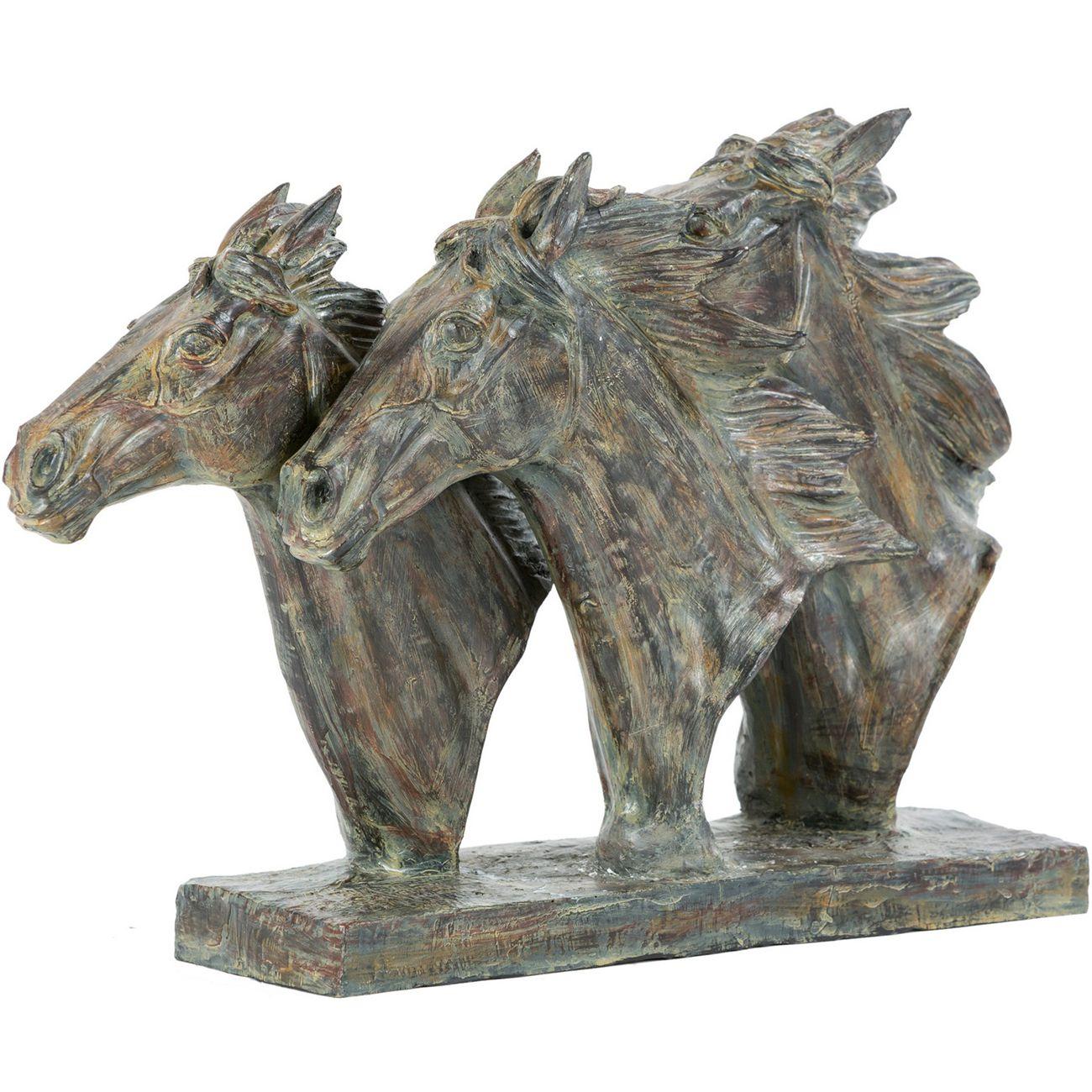 Equine Trio Horse Head Sculpture thumbnail