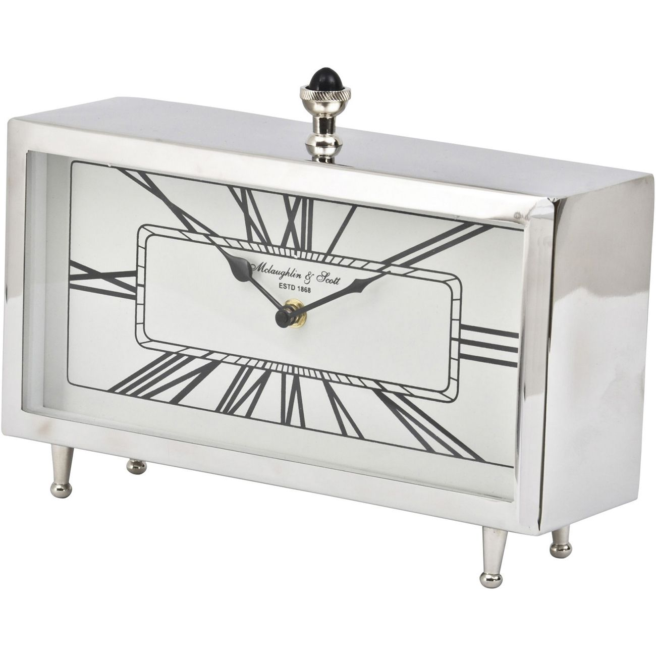 Nebolo Nickel Rectangular Table Clock thumbnail