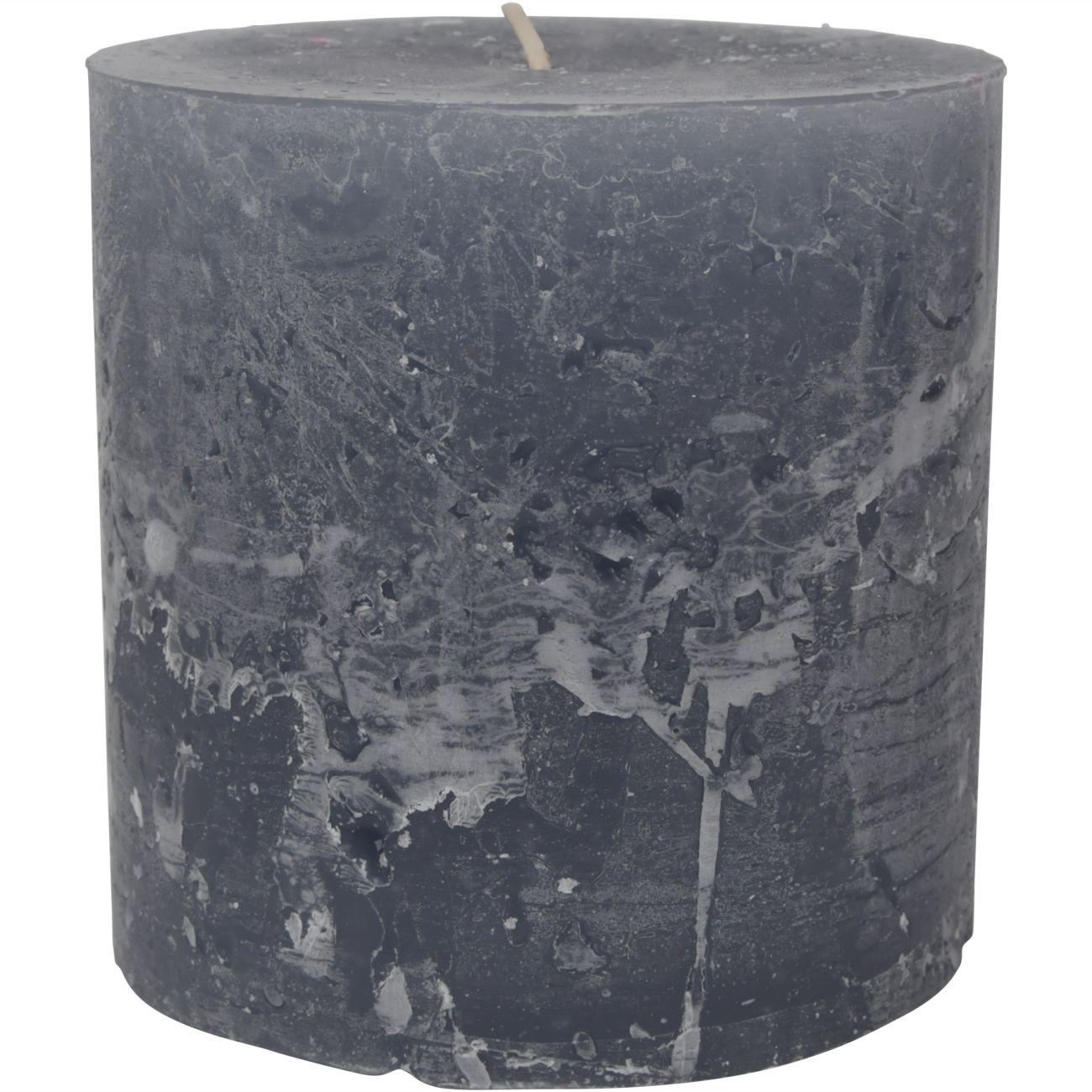 Libra Light Grey Rustica Pillar Candle 10x10cm thumbnail