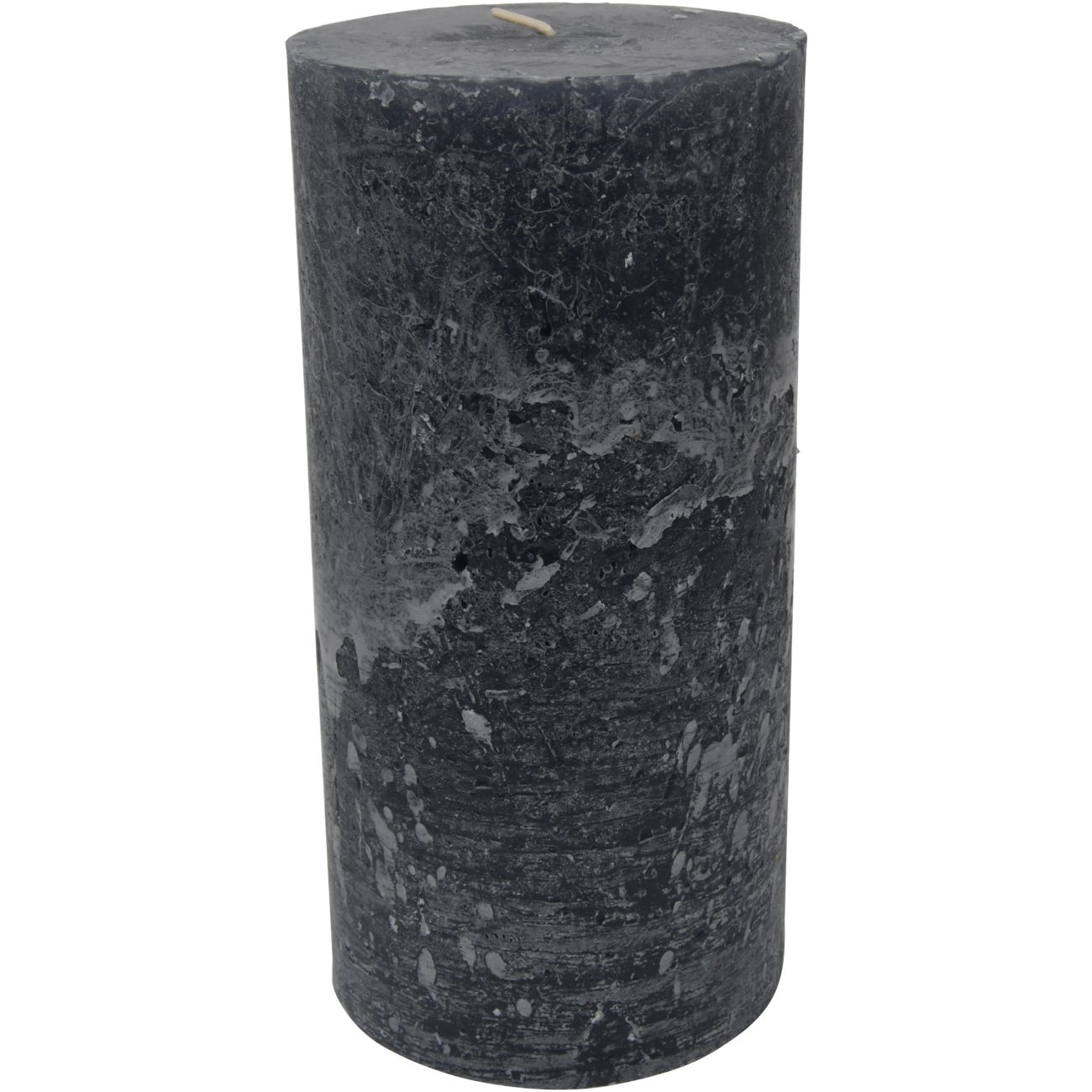 Libra Dark Grey Rustica Pillar Candle 10x20cm thumbnail
