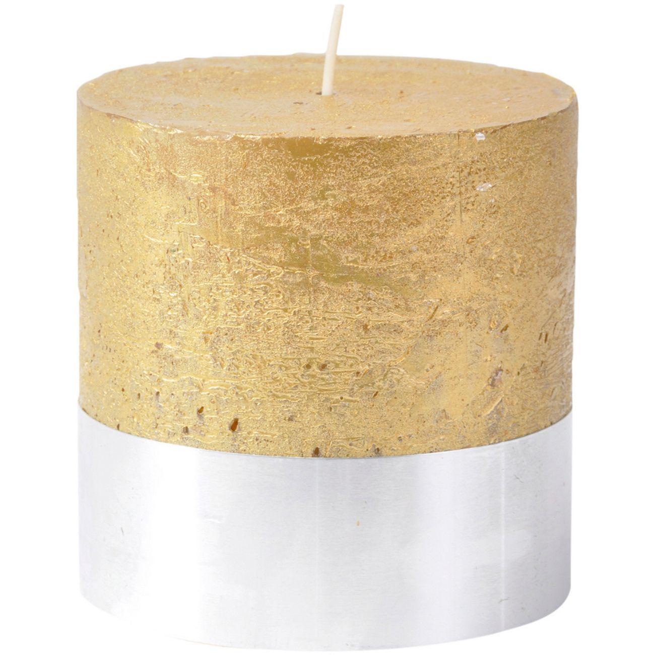 Libra Gold Rustica Pillar Candle 10x10cm thumbnail