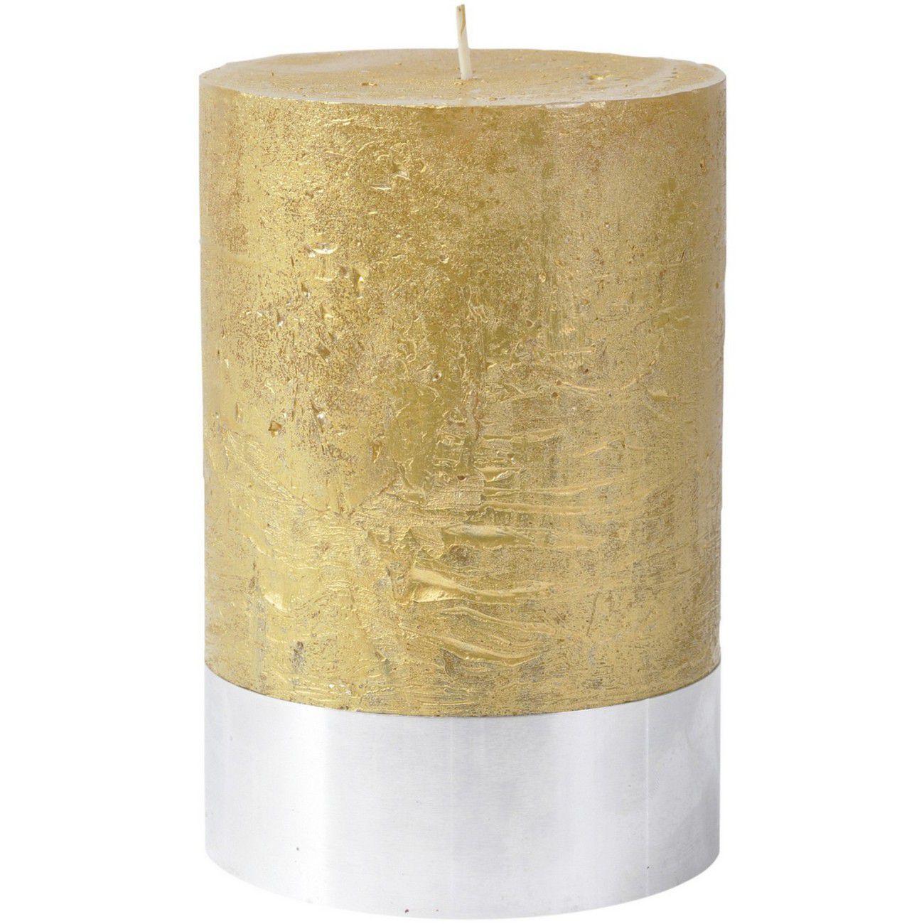 Libra Gold Rustica Pillar Candle 10x15cm thumbnail