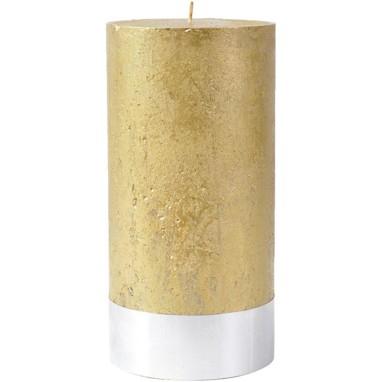 Libra Gold Rustica Pillar Candle 10x20cm - Xmas-18 thumbnail