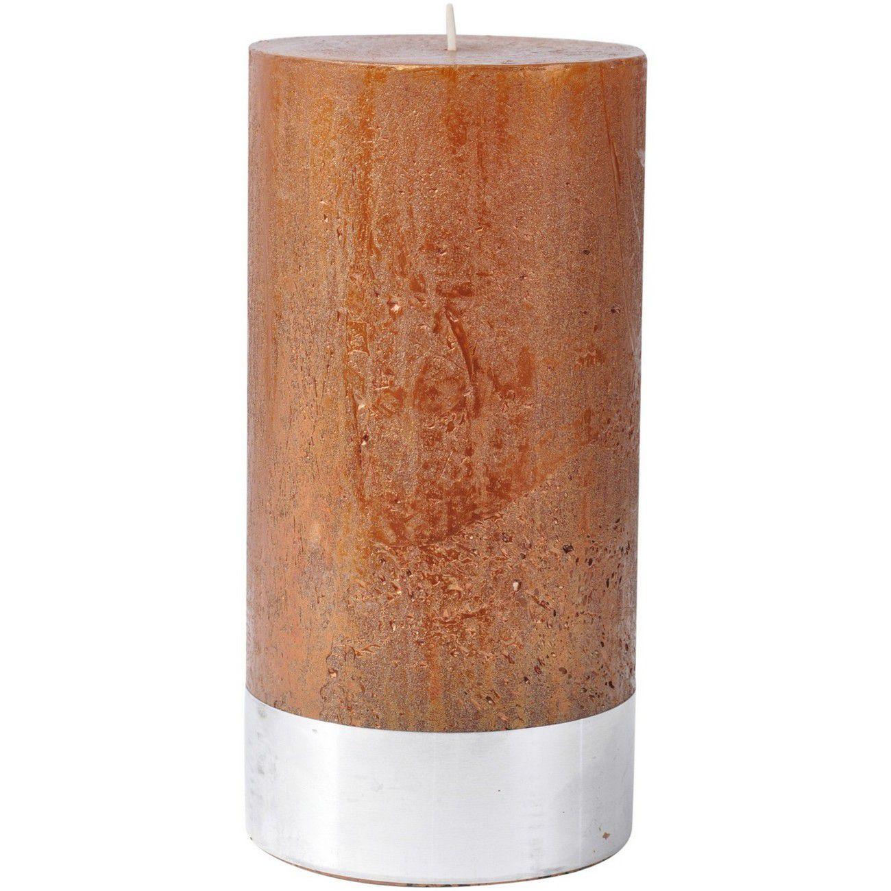 Libra Copper Rustica Pillar Candle 10x20cm - Xmas-18 thumbnail