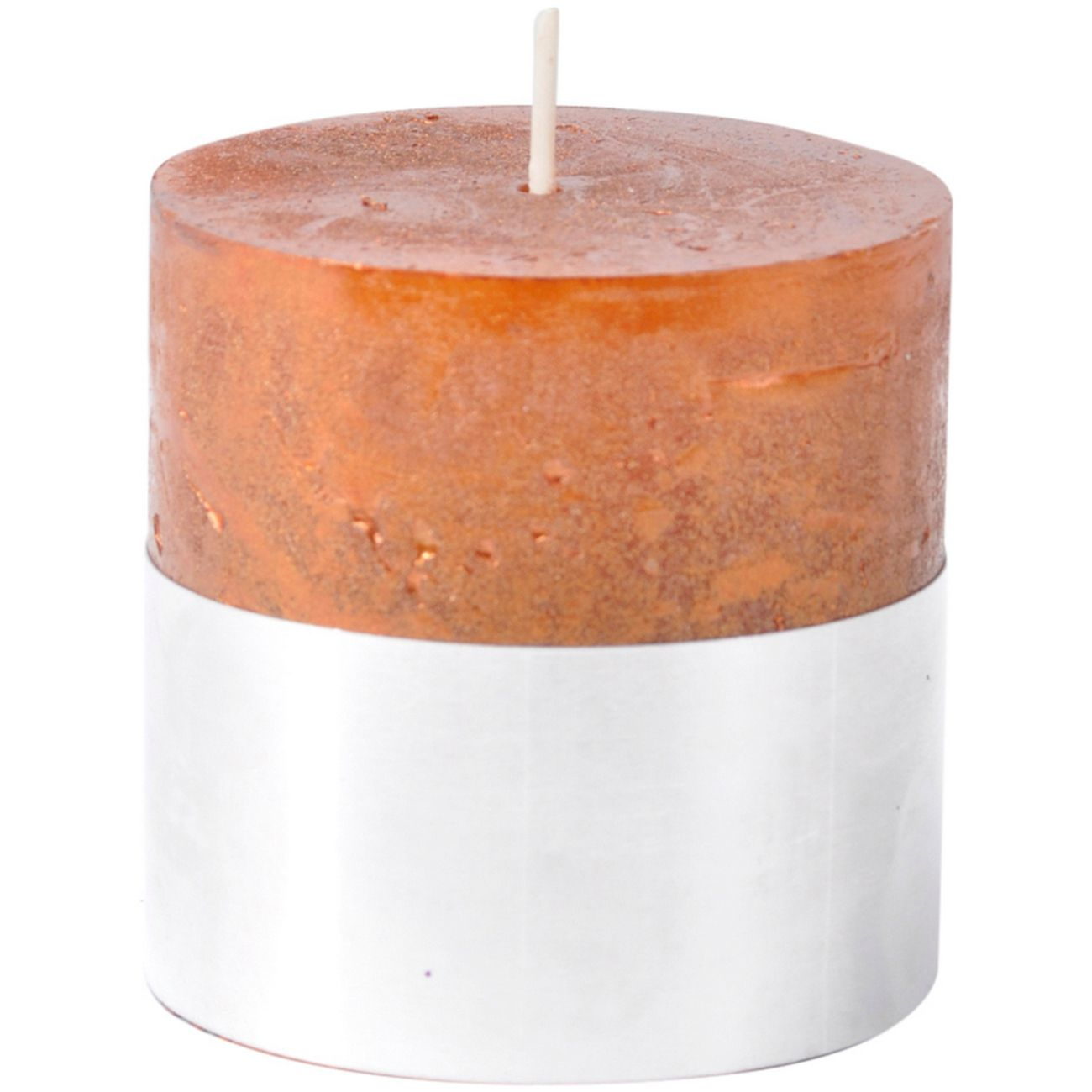 Libra Copper Rustica Pillar Candle 7x7cm - Xmas-18 thumbnail