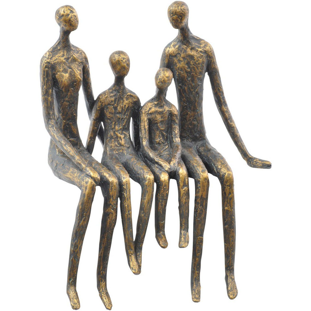 Sitting Family Of Four Shelf Sculpture thumbnail
