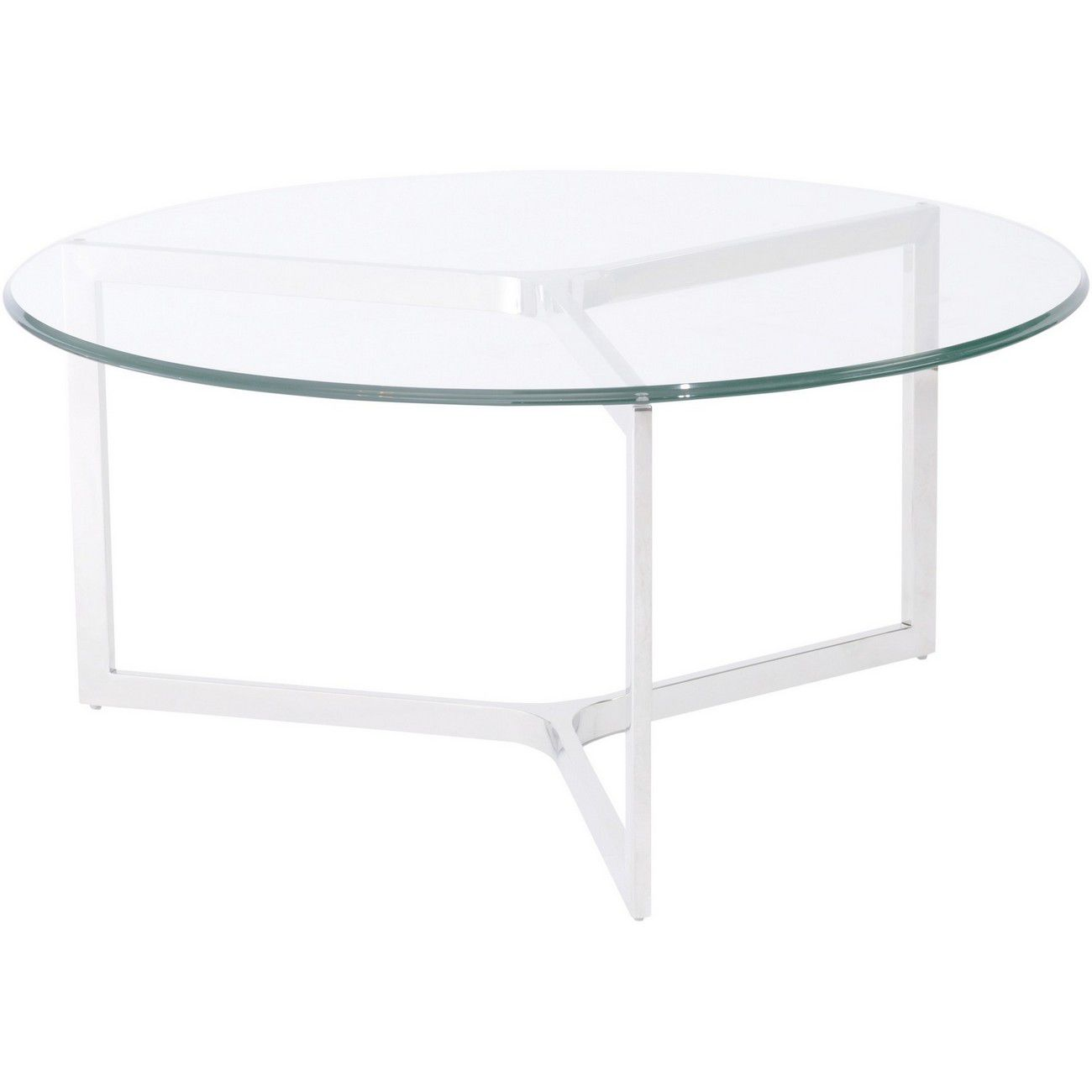 Linton Stainless Steel And Glass Coffee Table thumbnail