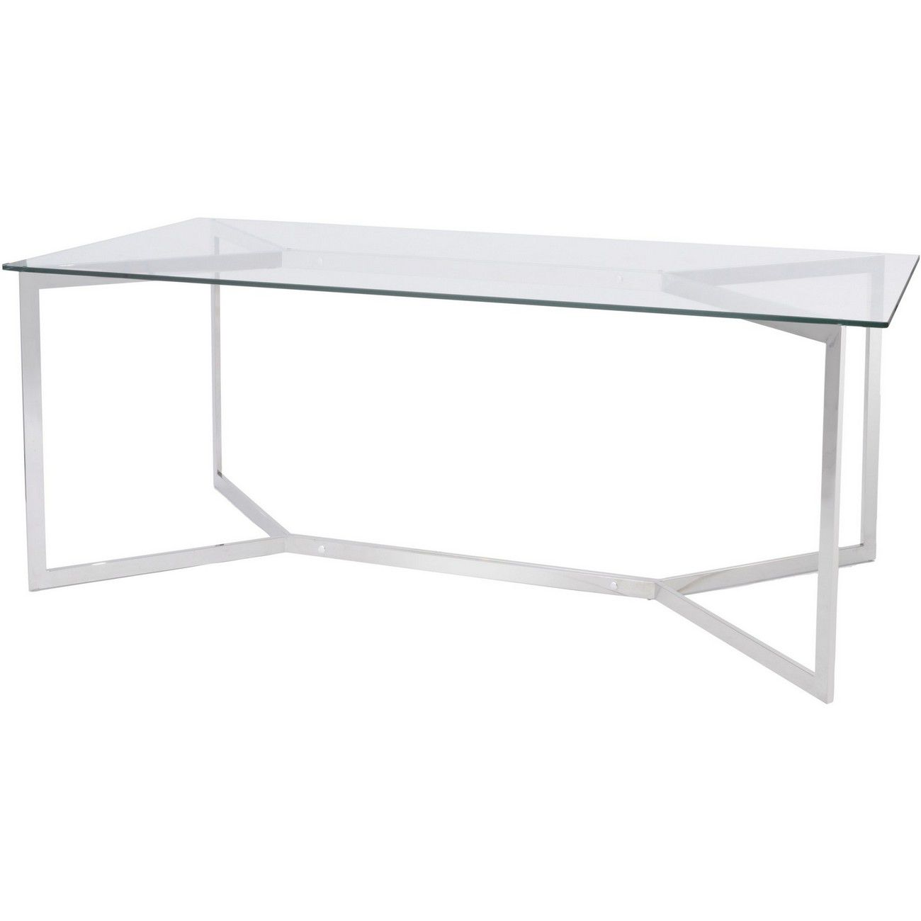 Linton Stainless Steel And Glass Dining Table thumbnail