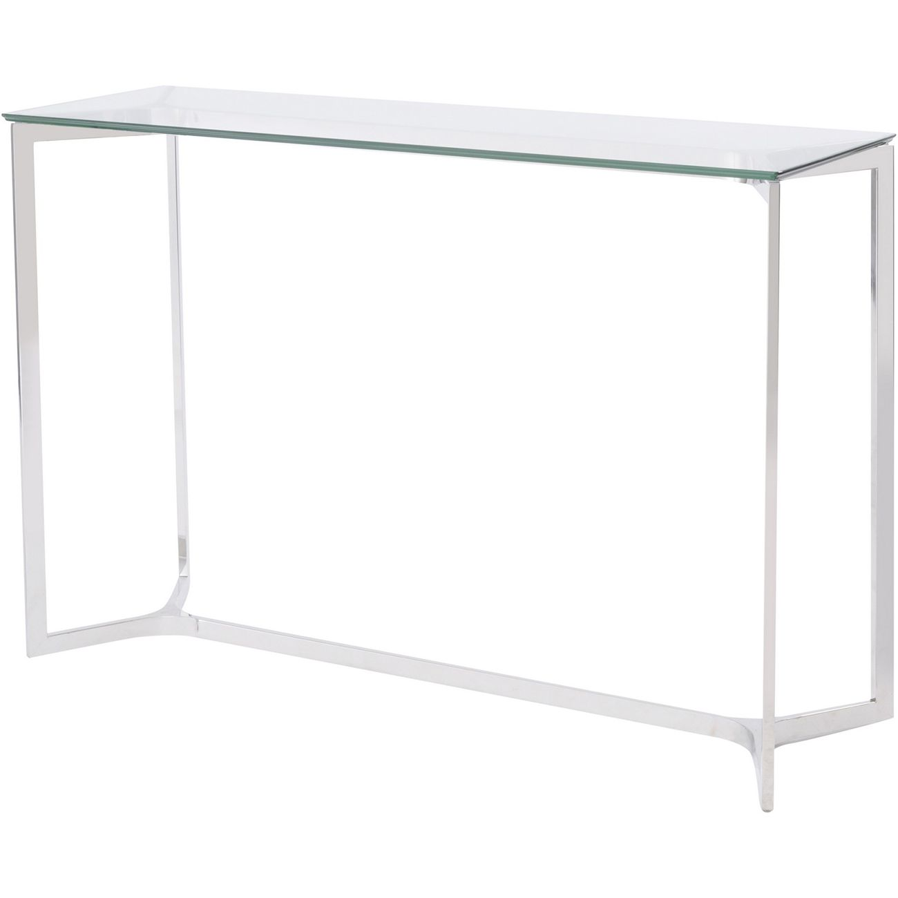 Linton Stainless Steel And Glass Console Table thumbnail