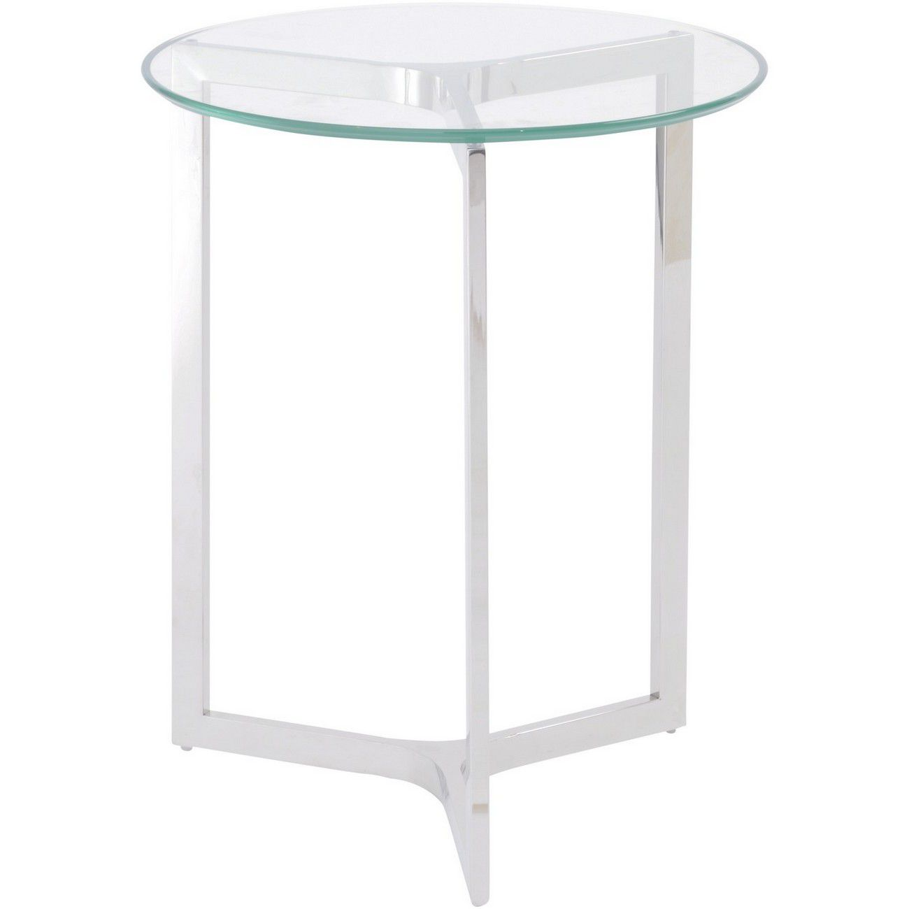 Linton Stainless Steel And Glass End Table thumbnail