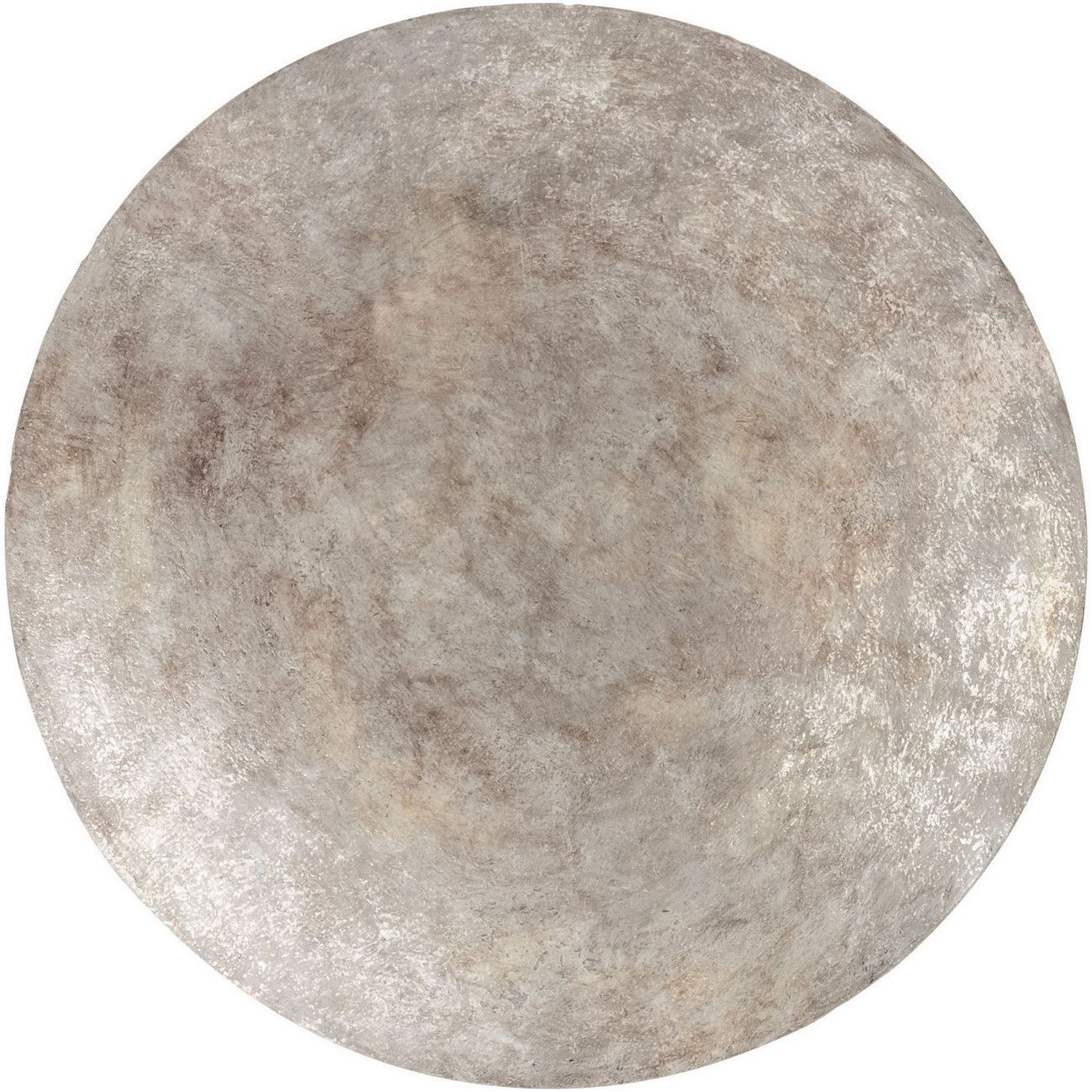 Burnished Silver Abstract Iron Wall Disc Small thumbnail