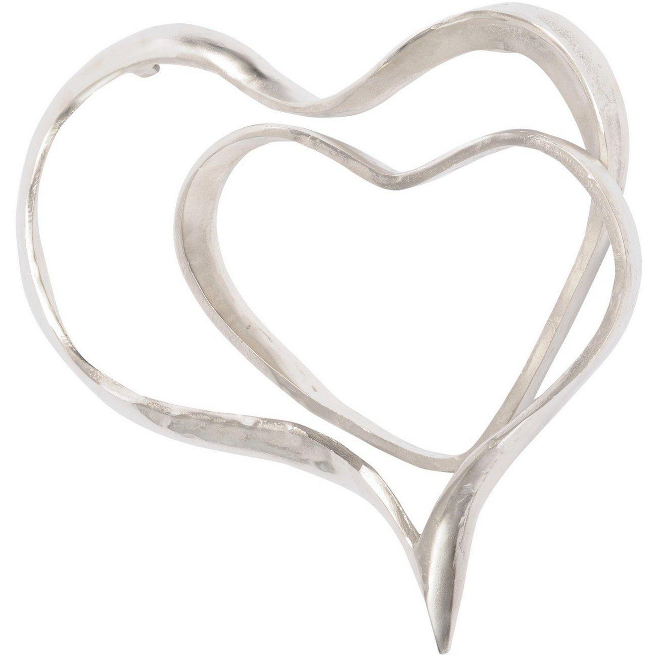 Silver Abstract Heart Wall Sculpture thumbnail