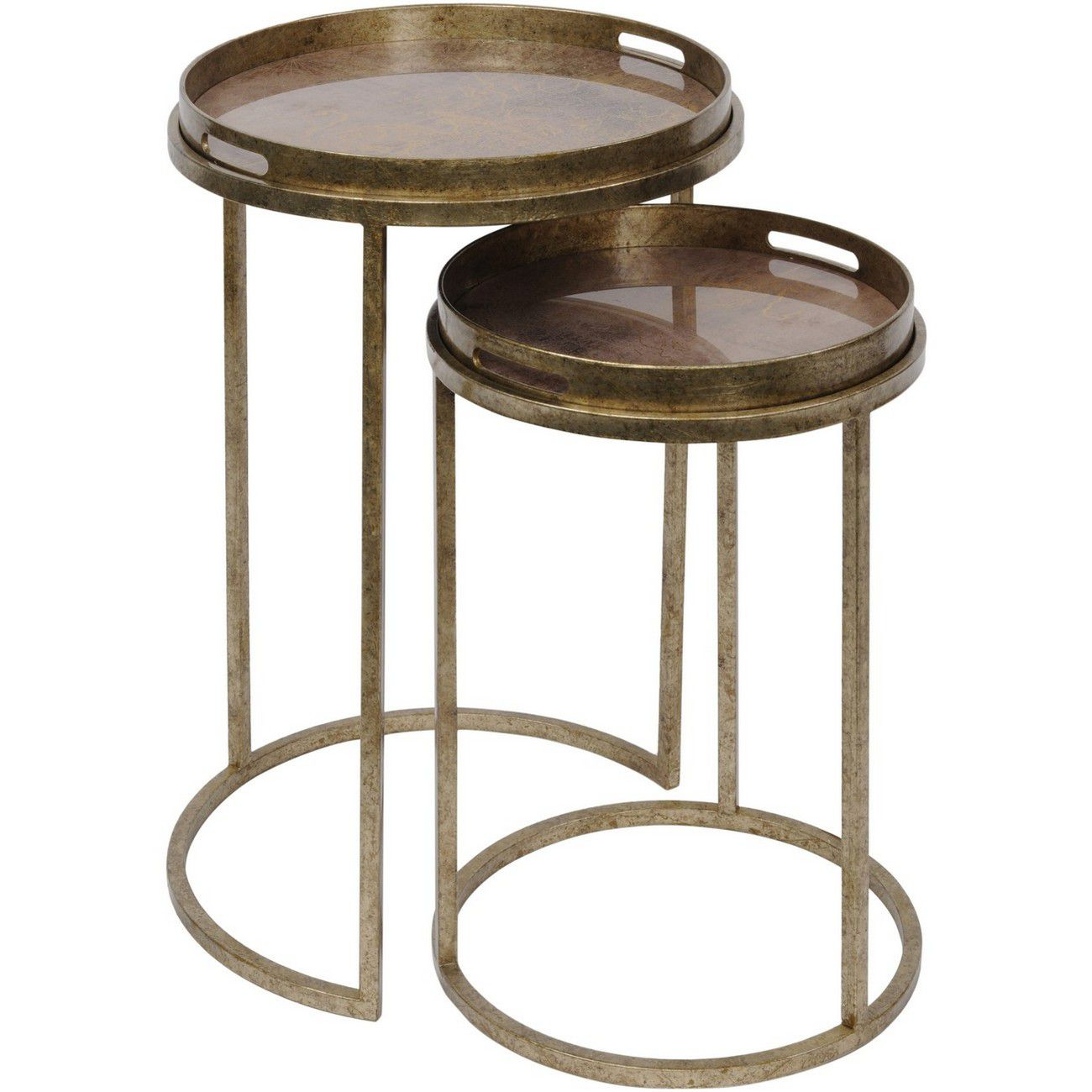 Vienna Antique Gold Atlas Set Of 2 Side Tables thumbnail