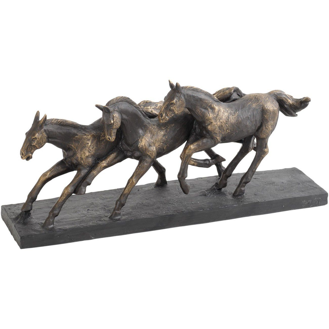 Antique Bronze Running Horse Sculpture thumbnail