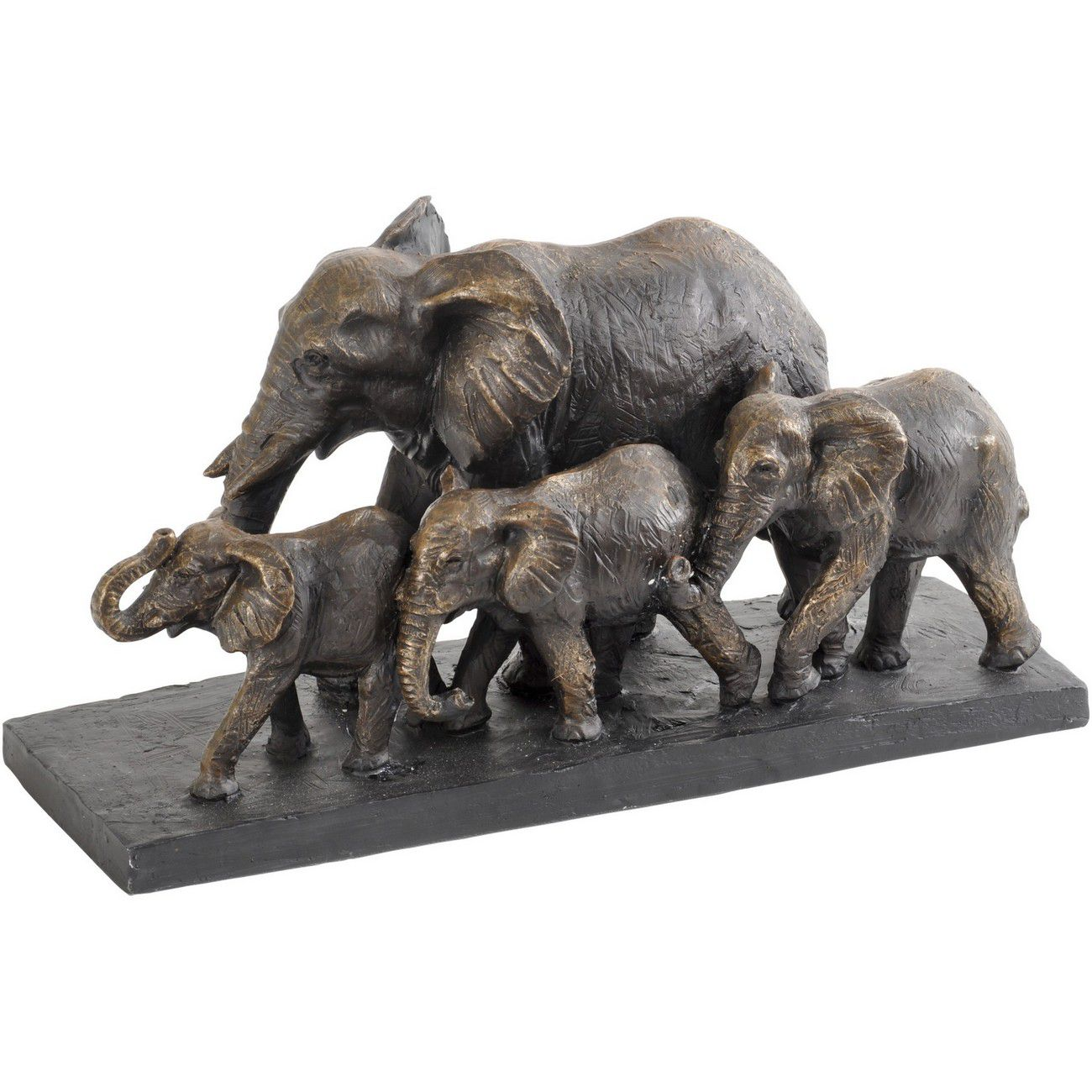 Antique Bronze Parade Of Elephants Sculpture thumbnail