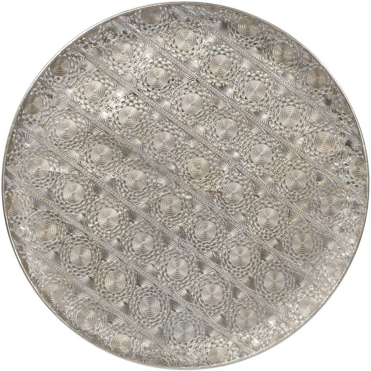 Antique Silver Filigree Wall Disc thumbnail