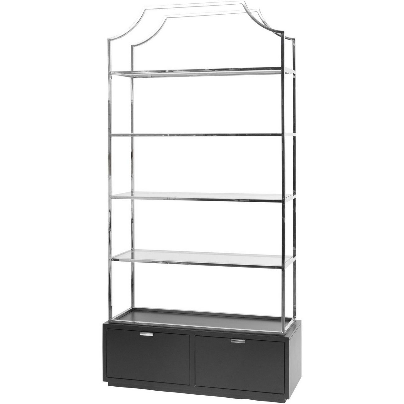 Gatsby Black Base Stainless Steel Bookcase thumbnail