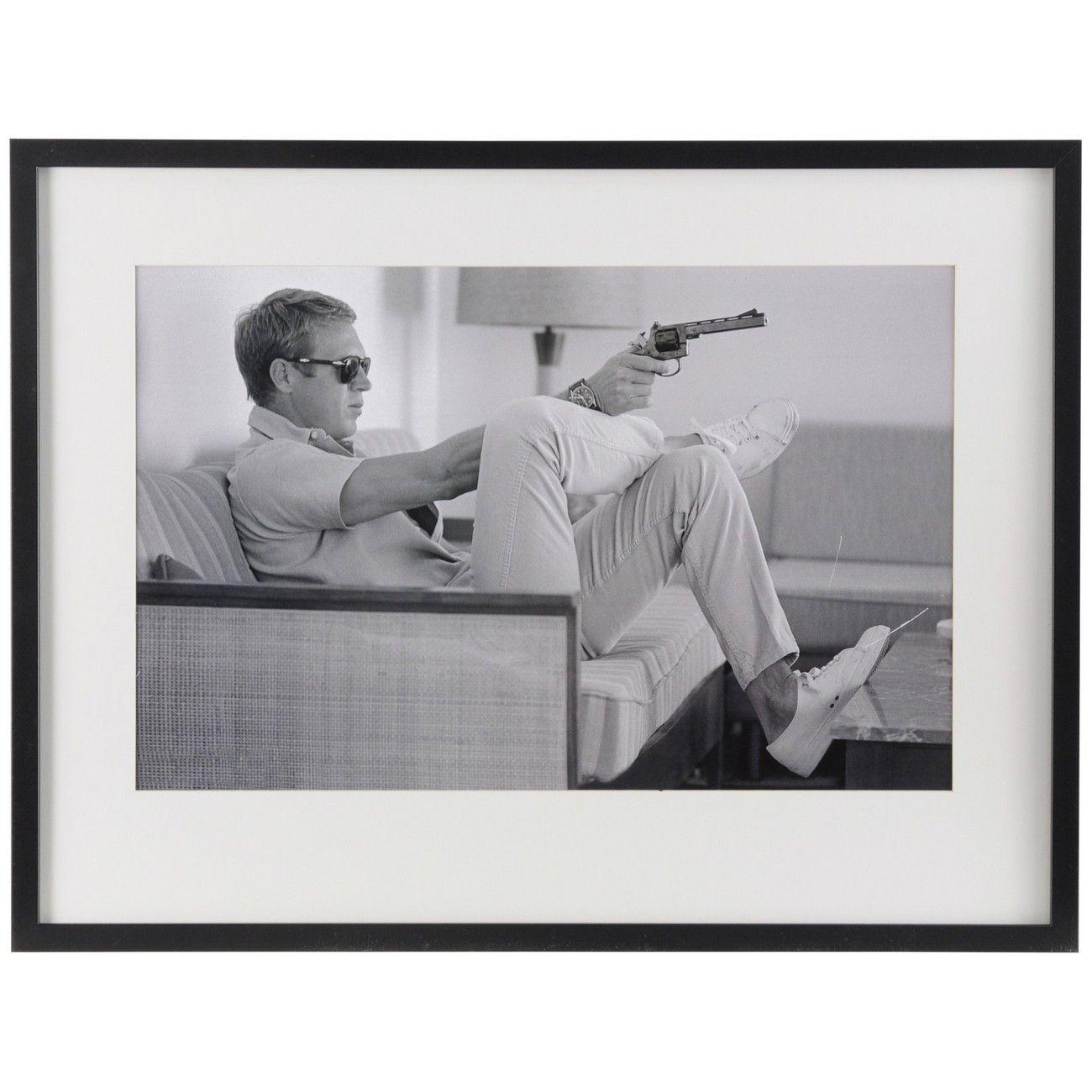 Steve McQueen Takes Aim Framed Print thumbnail