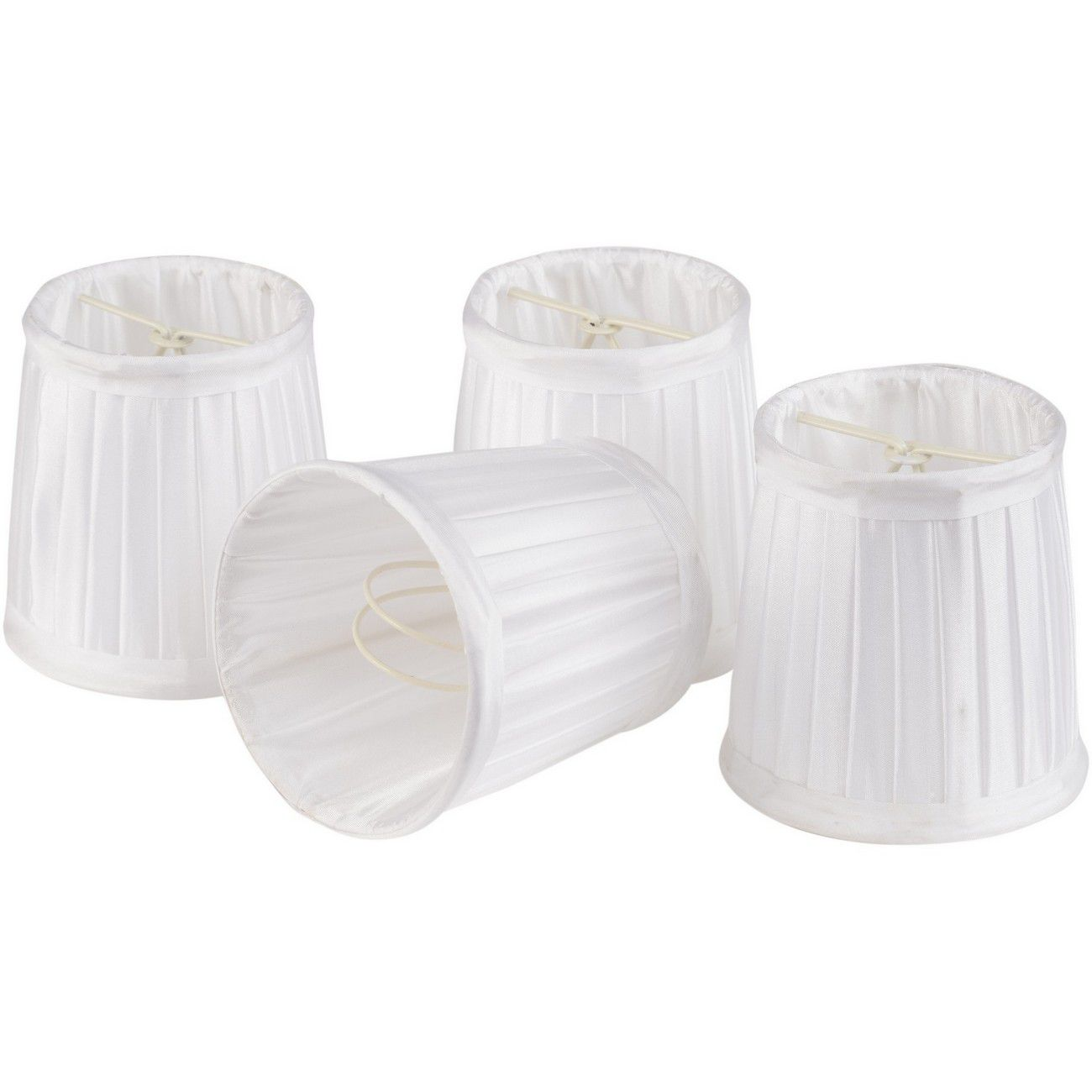 Set of White Shades Small For Bamboo Lantern 701099, 701100 thumbnail