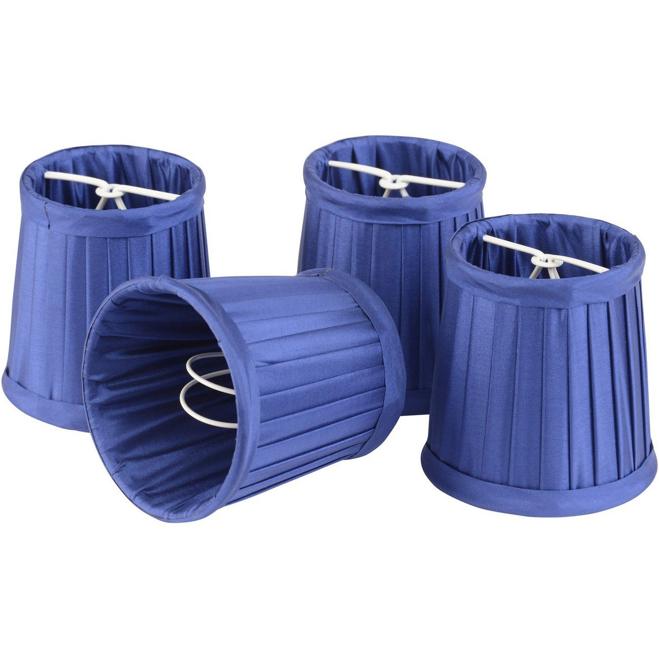 Set of Bright Blue Shades Small For Bamboo Lantern 701099, 701100 thumbnail