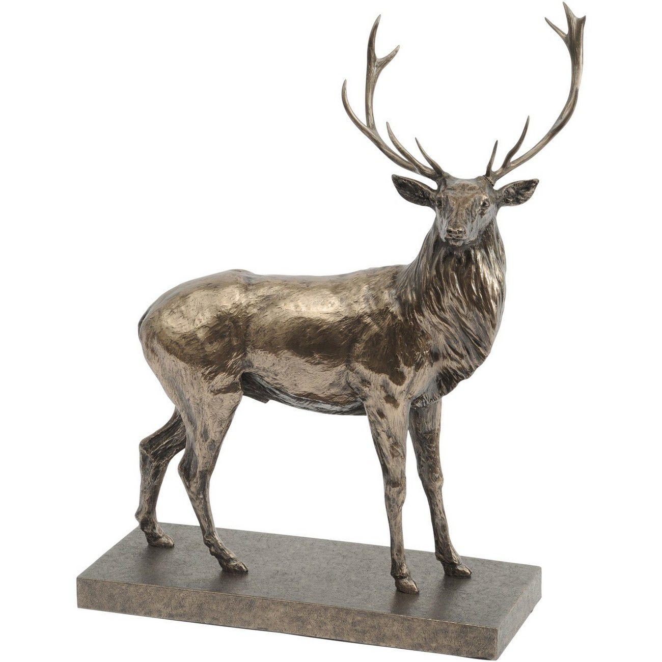 Antique Bronze Finish Stag Sculpture Designed by John Piper thumbnail