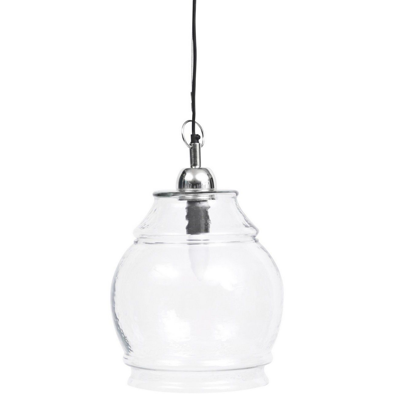 Belton Clear Glass And Nickel Glass Pendant E27 60W thumbnail