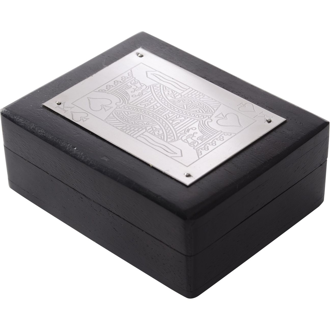 Black And Silver Playing Card Box thumbnail