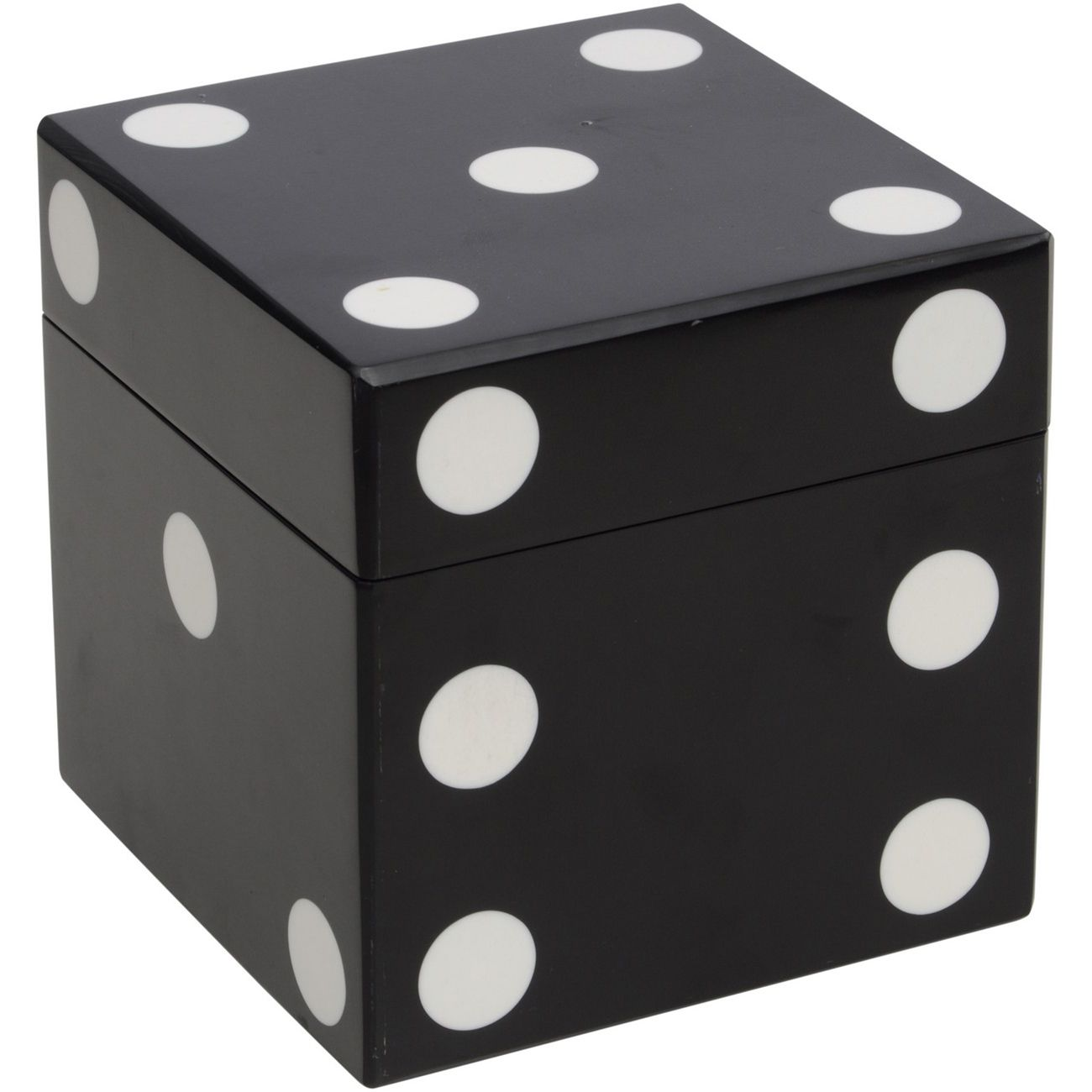 Black And White Dice Cube With 5 Giant Dice thumbnail