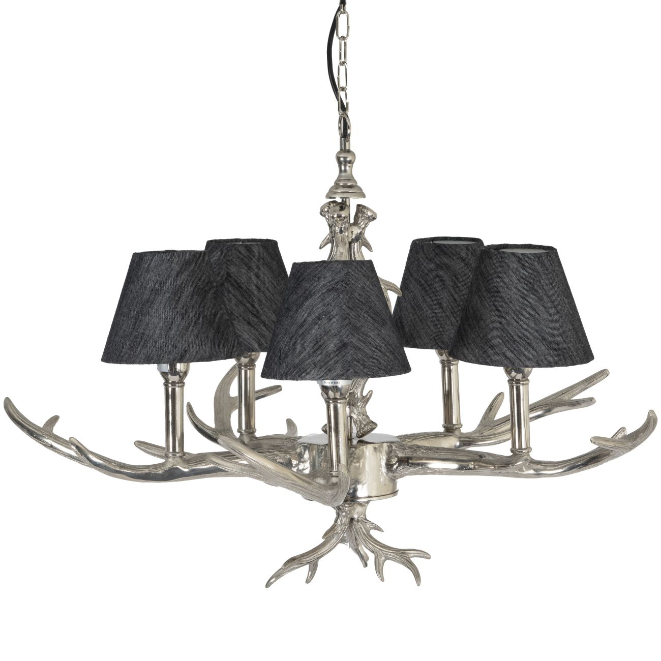 Nickel Antler Chandelier E14 40W thumbnail
