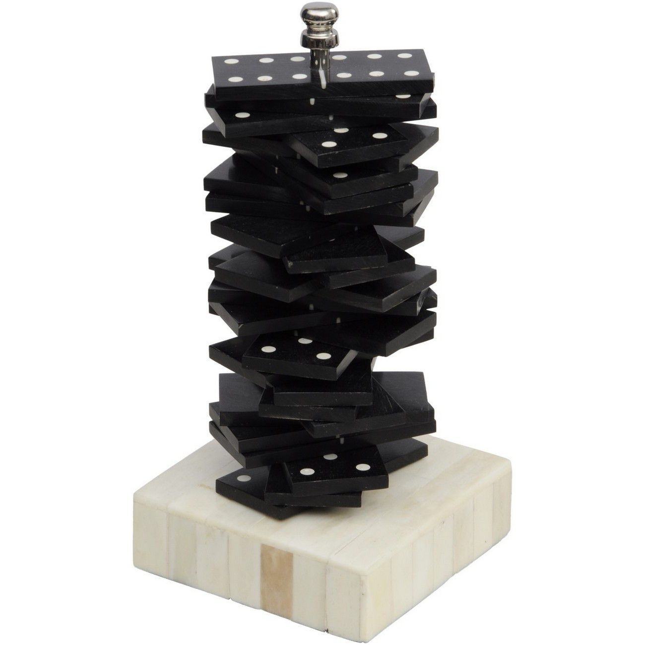Black And White Resin Dominoes Set thumbnail
