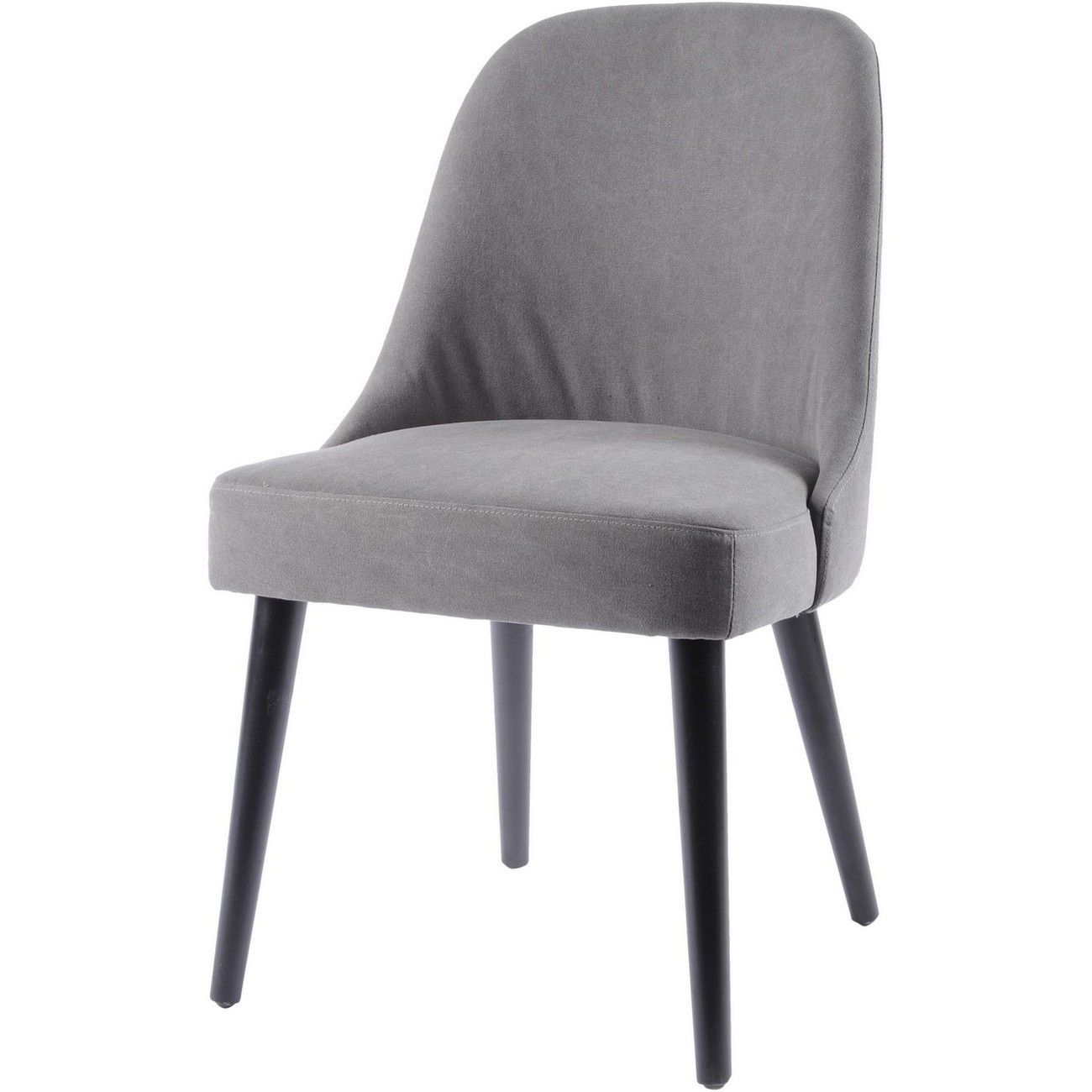 Bardolino Charcoal Grey Cotton Dining Chair thumbnail