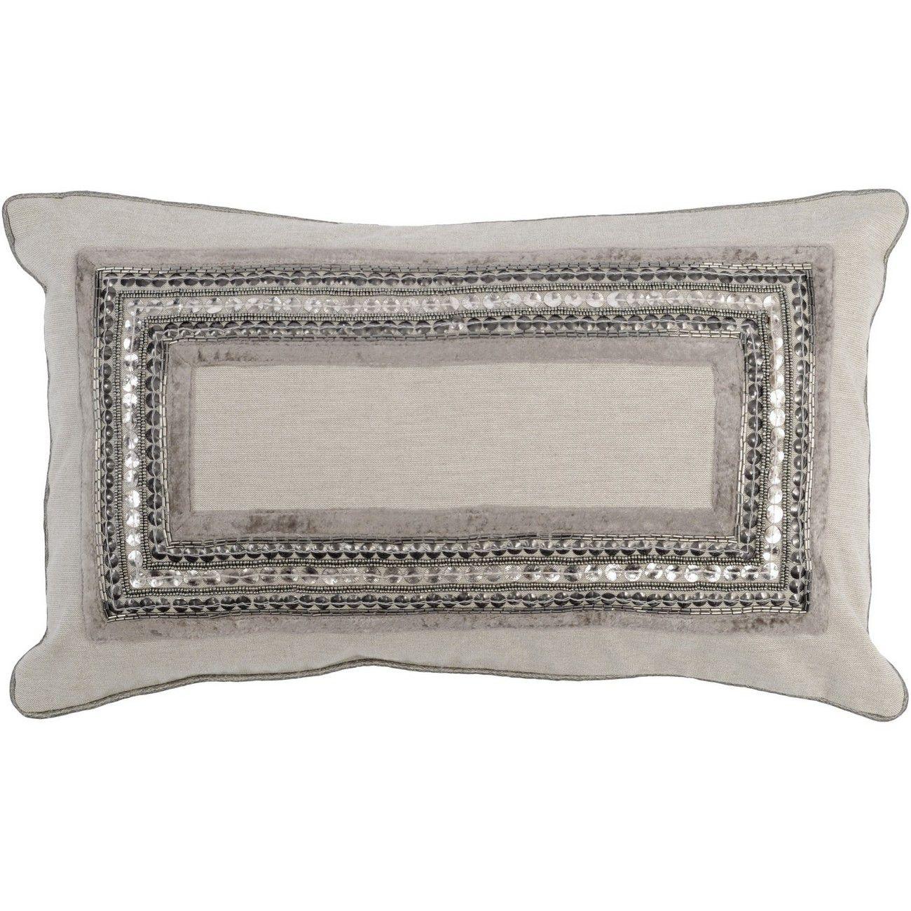 Gatsby Rectangular Cushion in Taupe 50x30cm thumbnail
