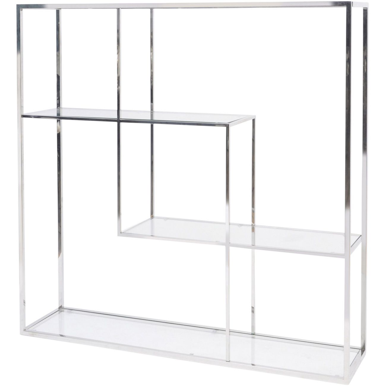 Linton Stainless Steel And Glass Modular Display Unit thumbnail