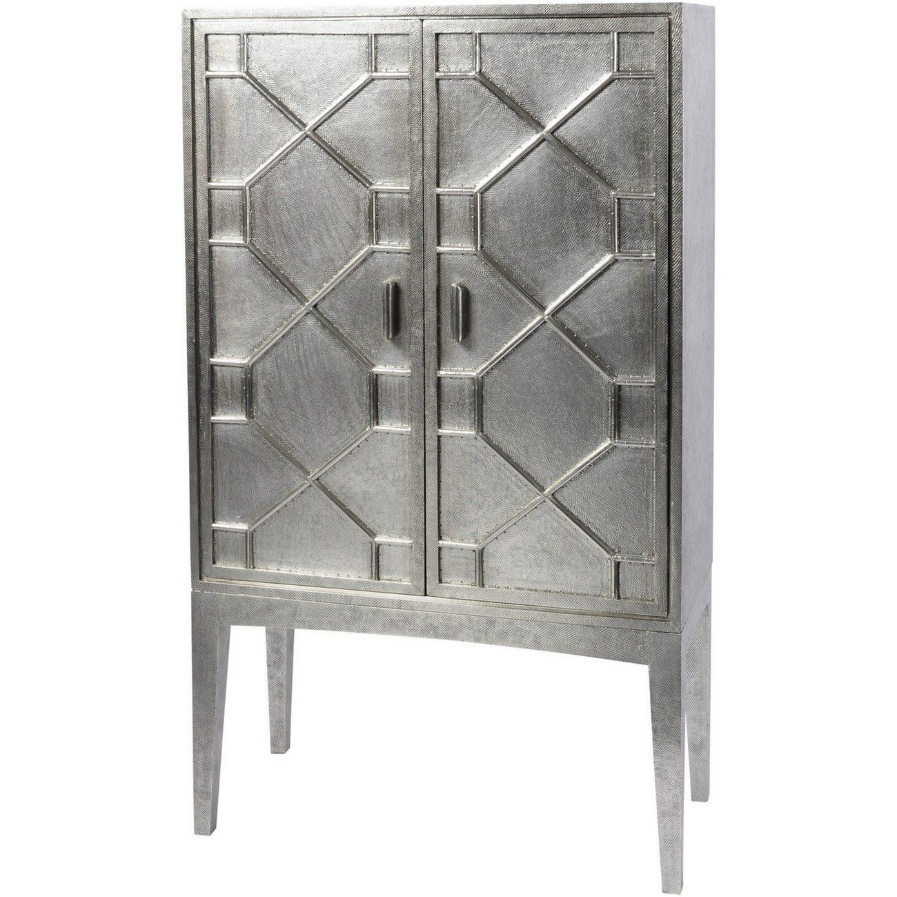 Astor Hand Embossed Metal Bar Cabinet thumbnail