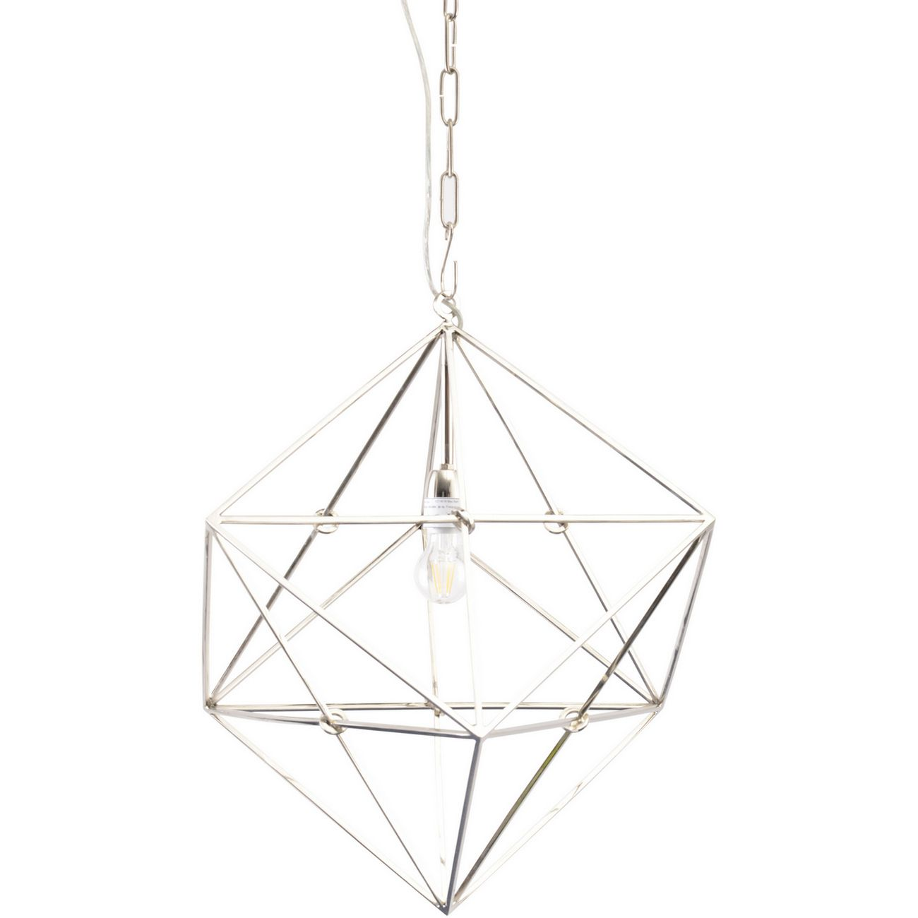 Geometric Nickel Pendant Lamp E27 40W thumbnail