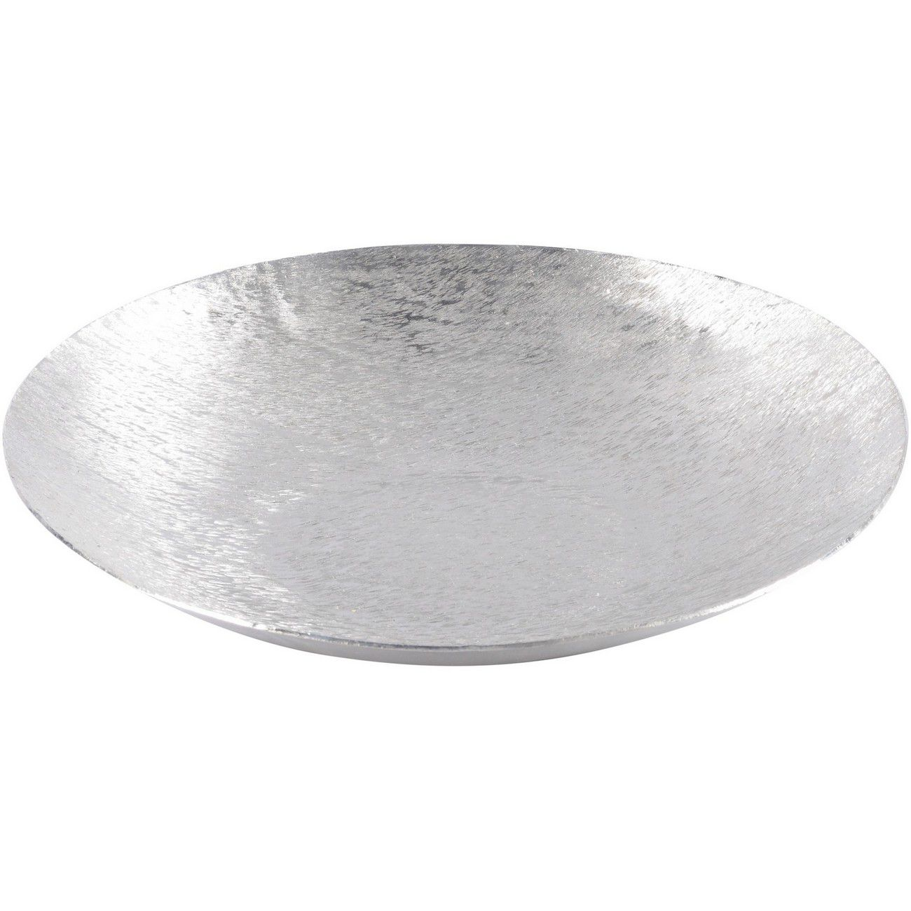Brushed Silver Decorative Aluminium Bowl Small thumbnail