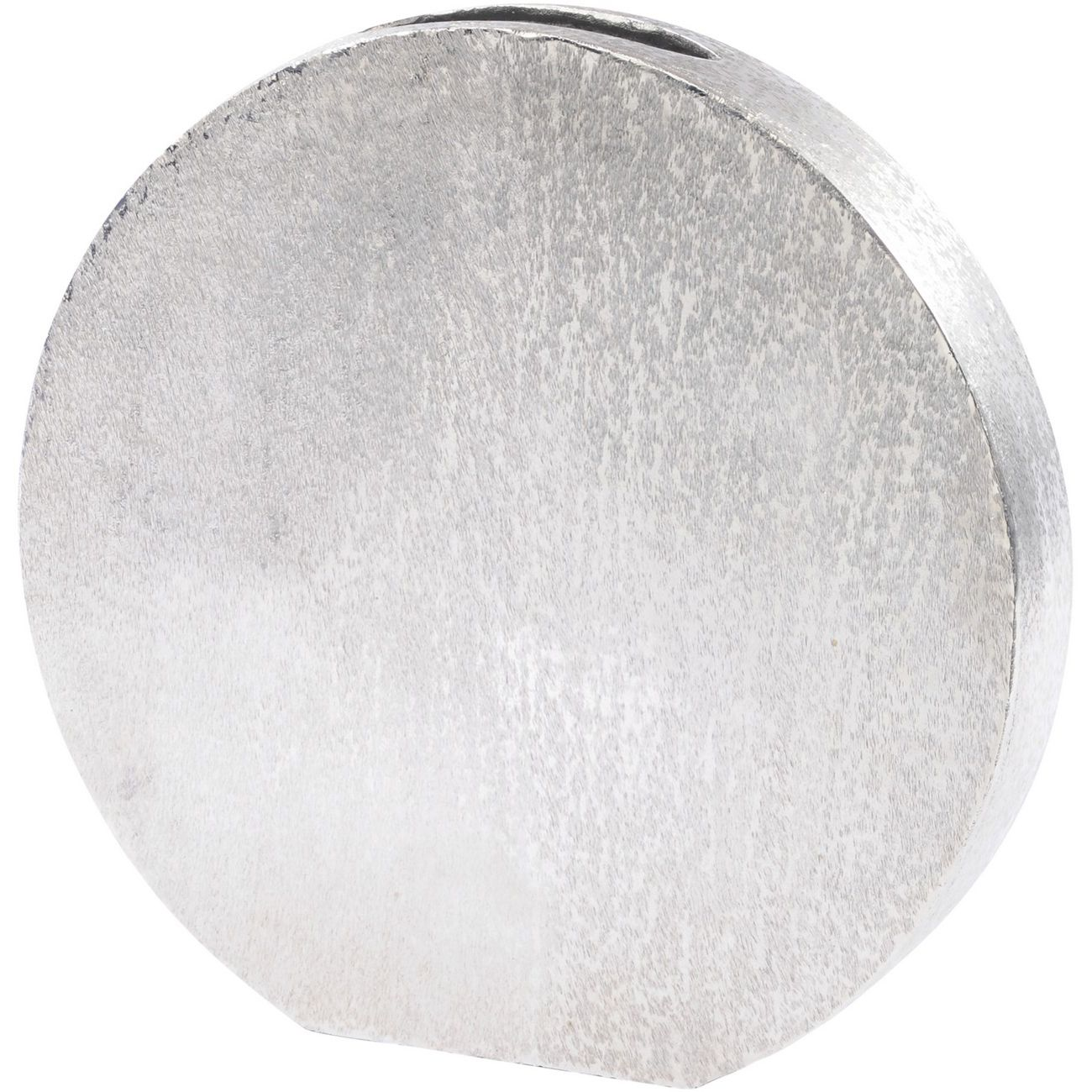 Brushed Silver Decorative Aluminium Disc Vase thumbnail
